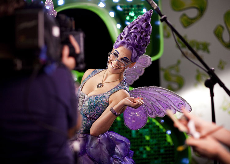 Actress Karli Vale in the role of Fairy Godmother