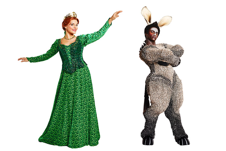 shrek the musical promotional images helen maybanks
