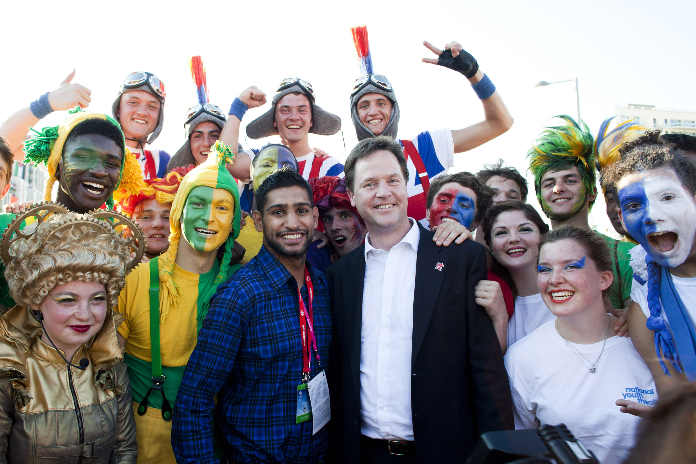 Aamir Khan and Nick Clegg
