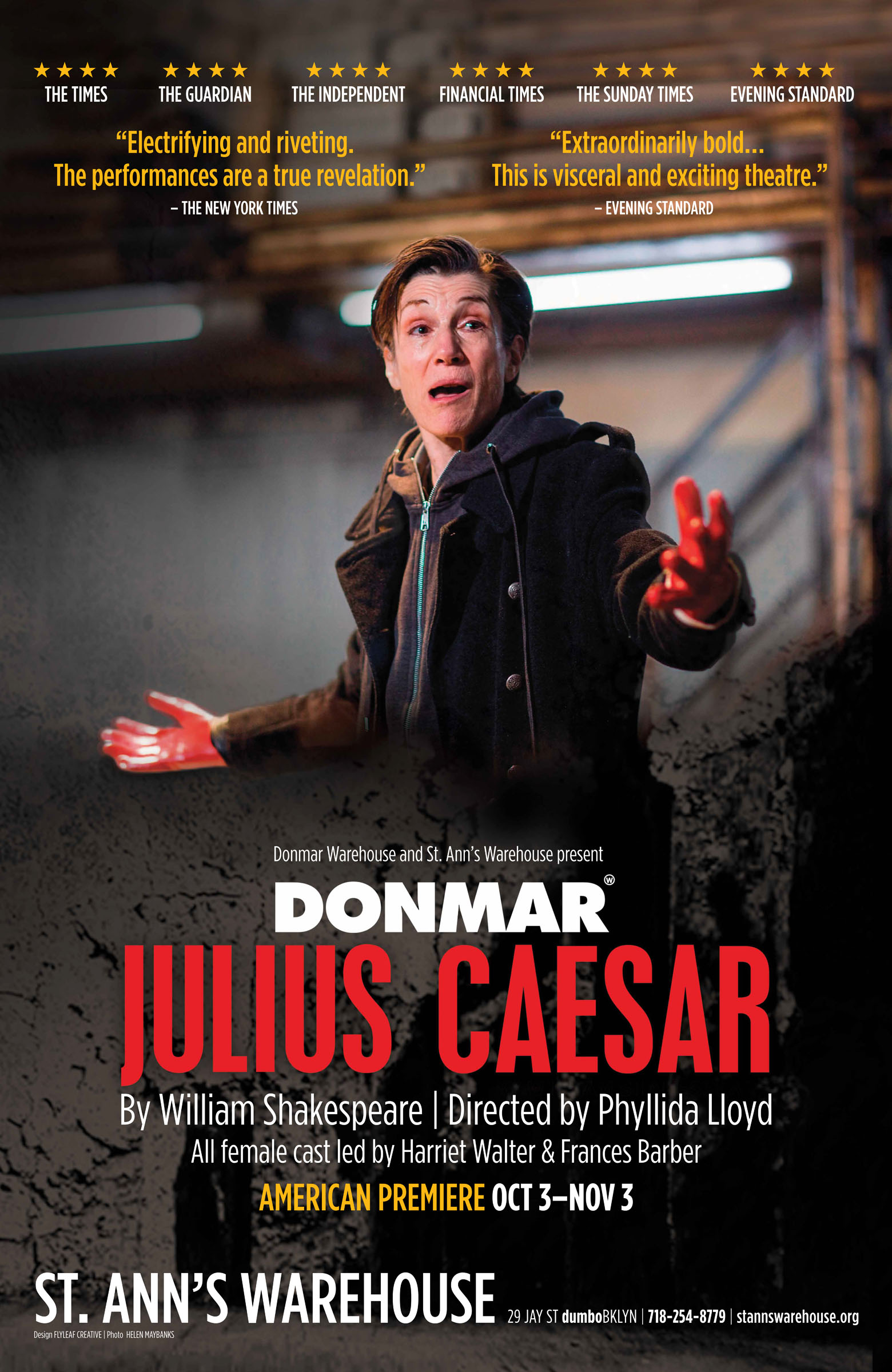 Poster for Julius Caesar at St Ann's Warehouse