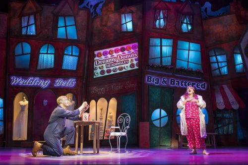 Jodie Prenger and Andrew Flintoff in Fat Friends
