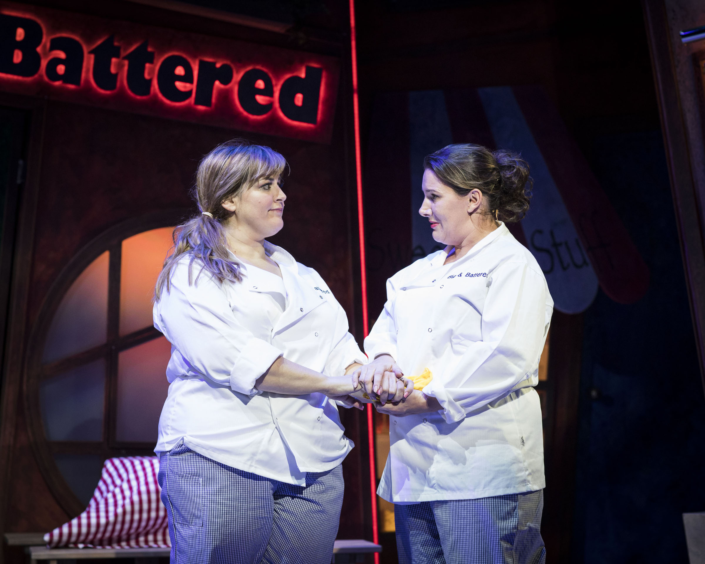 Jodie Prenger and Sam Bailey in Fat Friends
