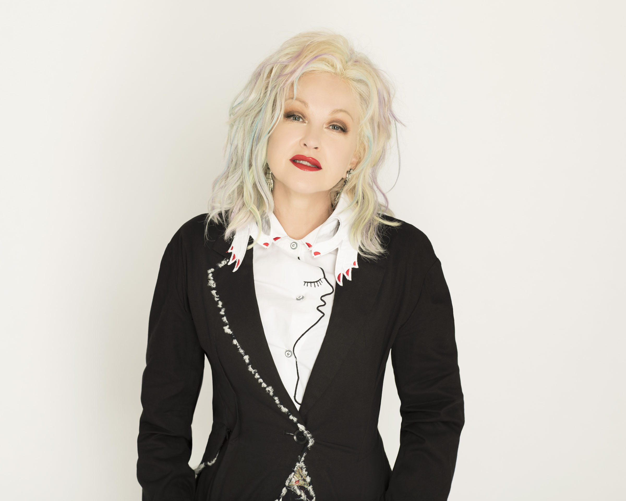 A portrait of Cyndi Lauper by Helen Maybanks