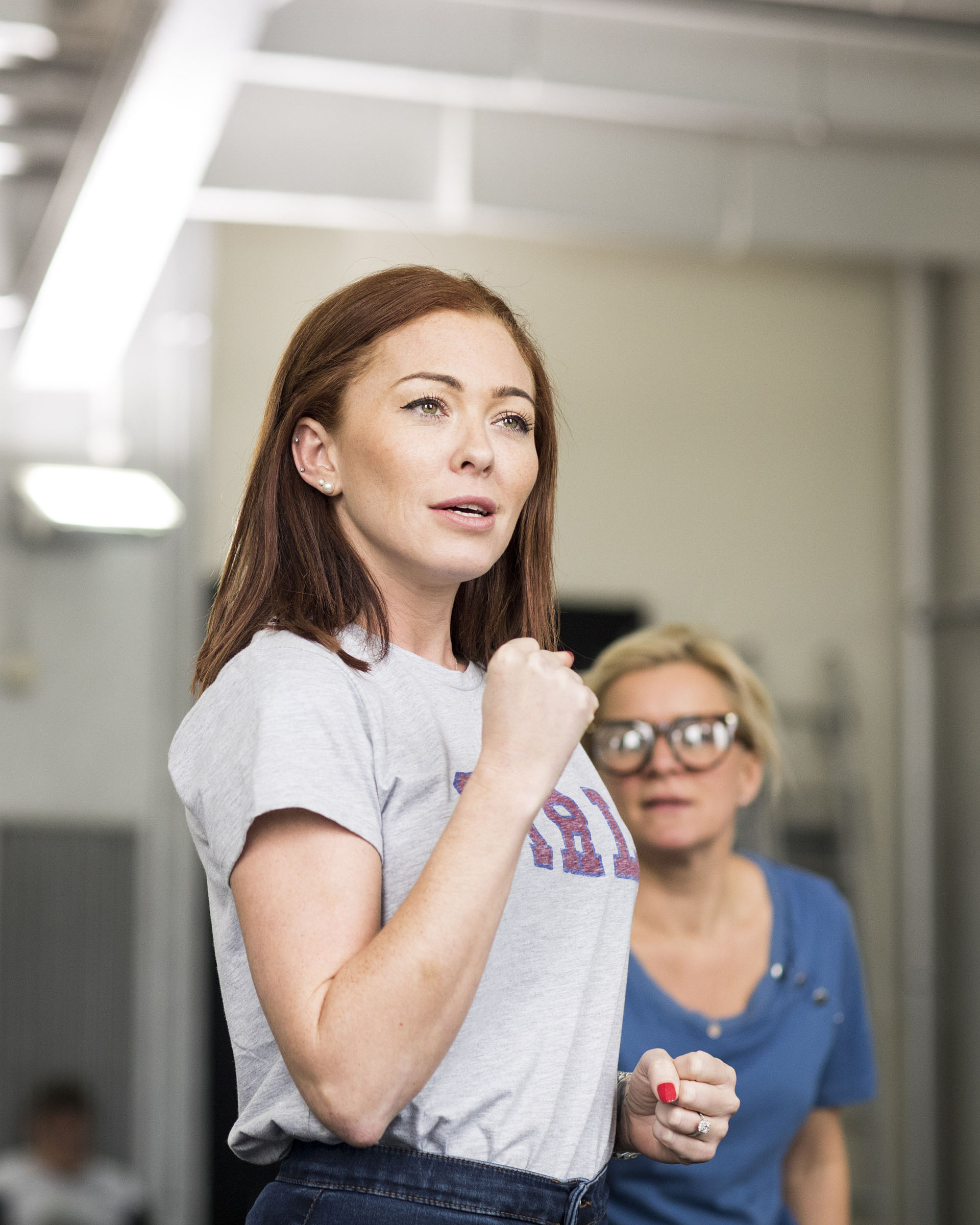 Natasha Hamilton in rehearsals for Fat Friends the Musical