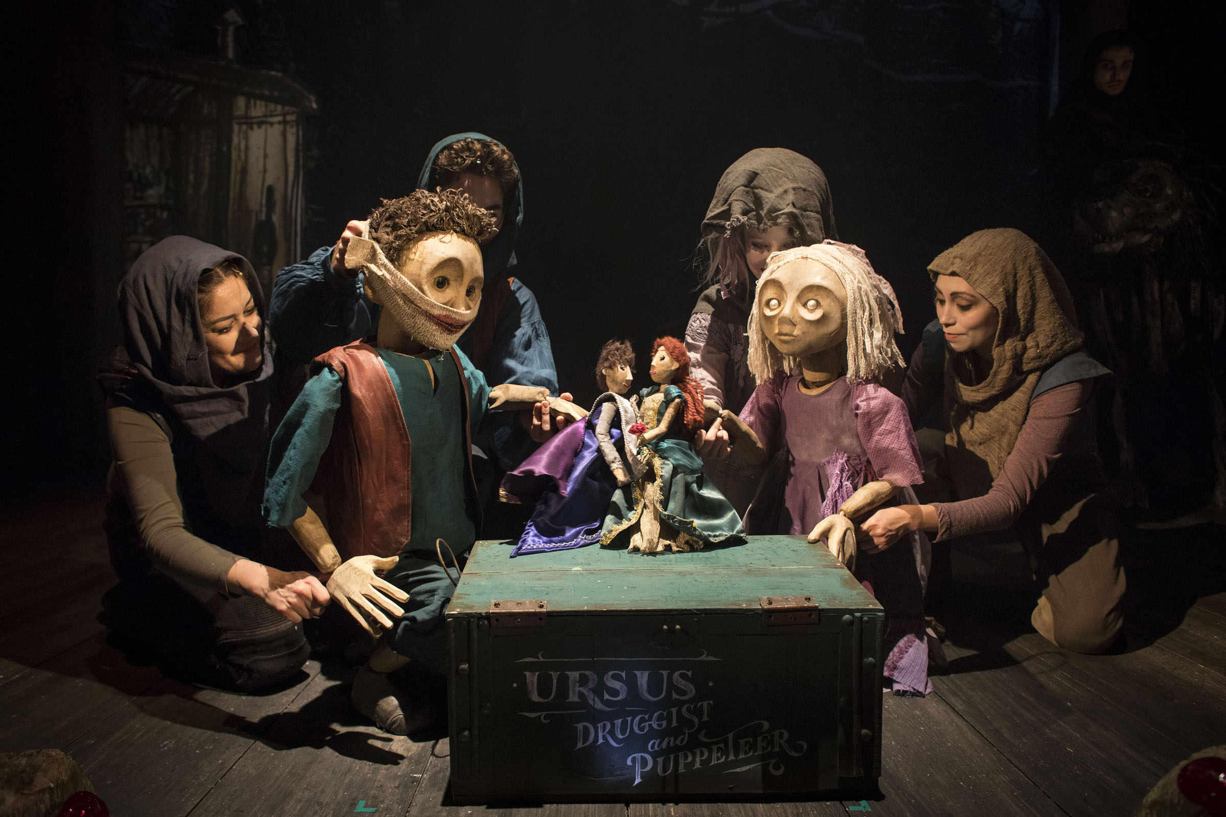 Puppetry during 'The Grinning Manl