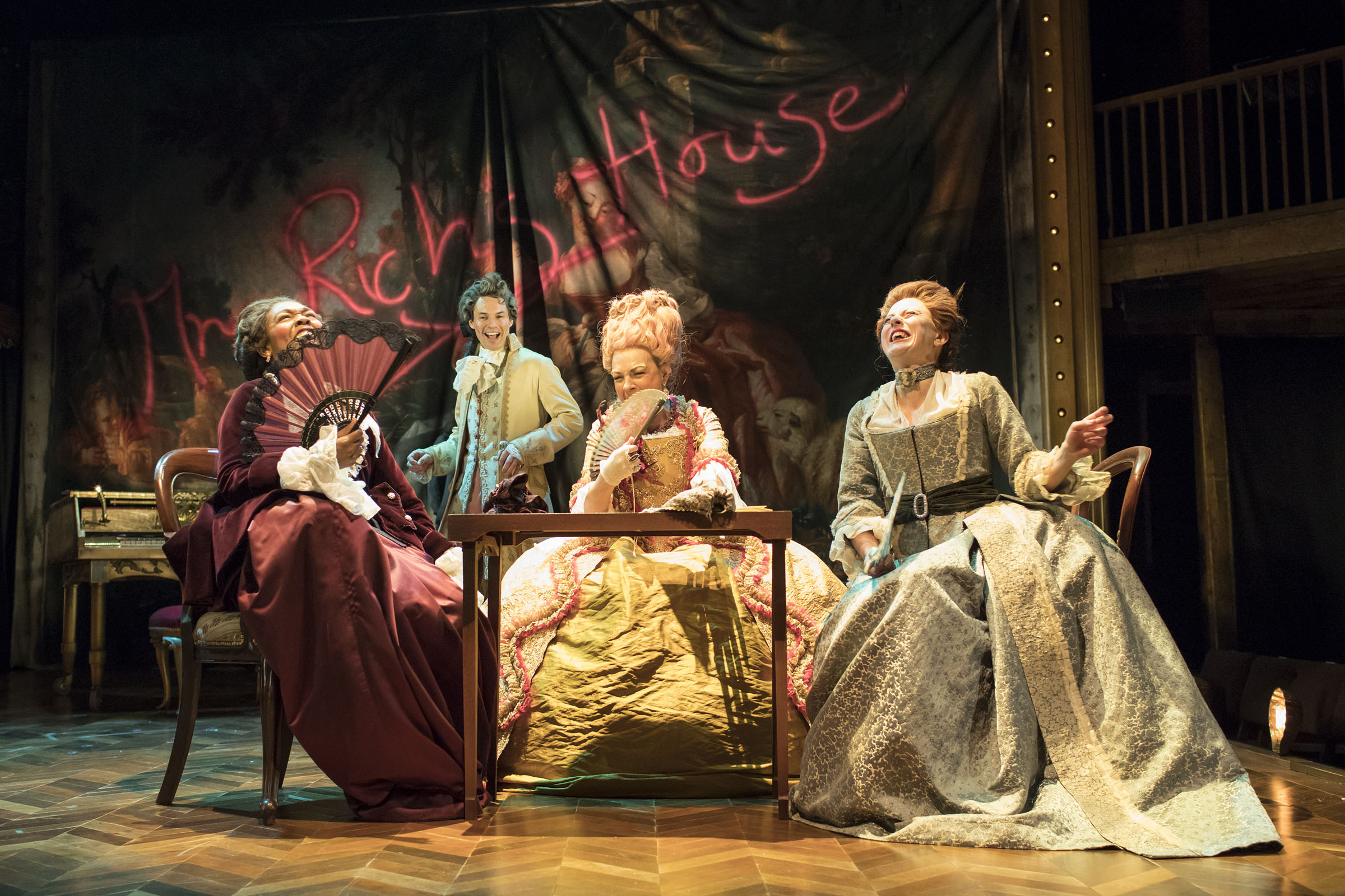 Susan Salmon, Tam Williams, Sophie Stanton and Sandy Foster in The Fantastic Follies of Mrs Rich