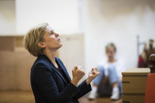 Denise Gough in rehearsal