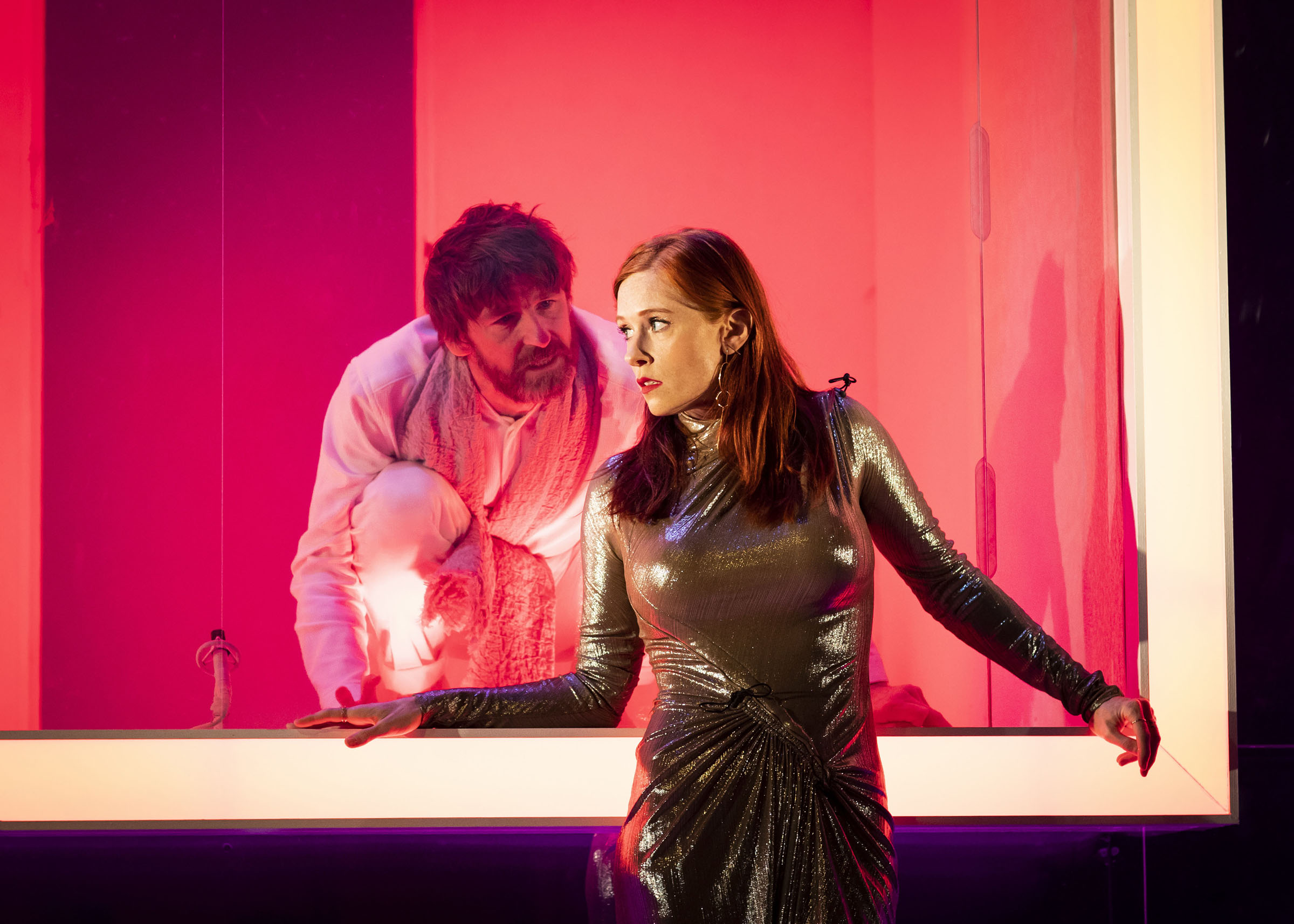Audrey Fleurot and Paul Anderson in Tartuffe at Theatre Royal Haymarket