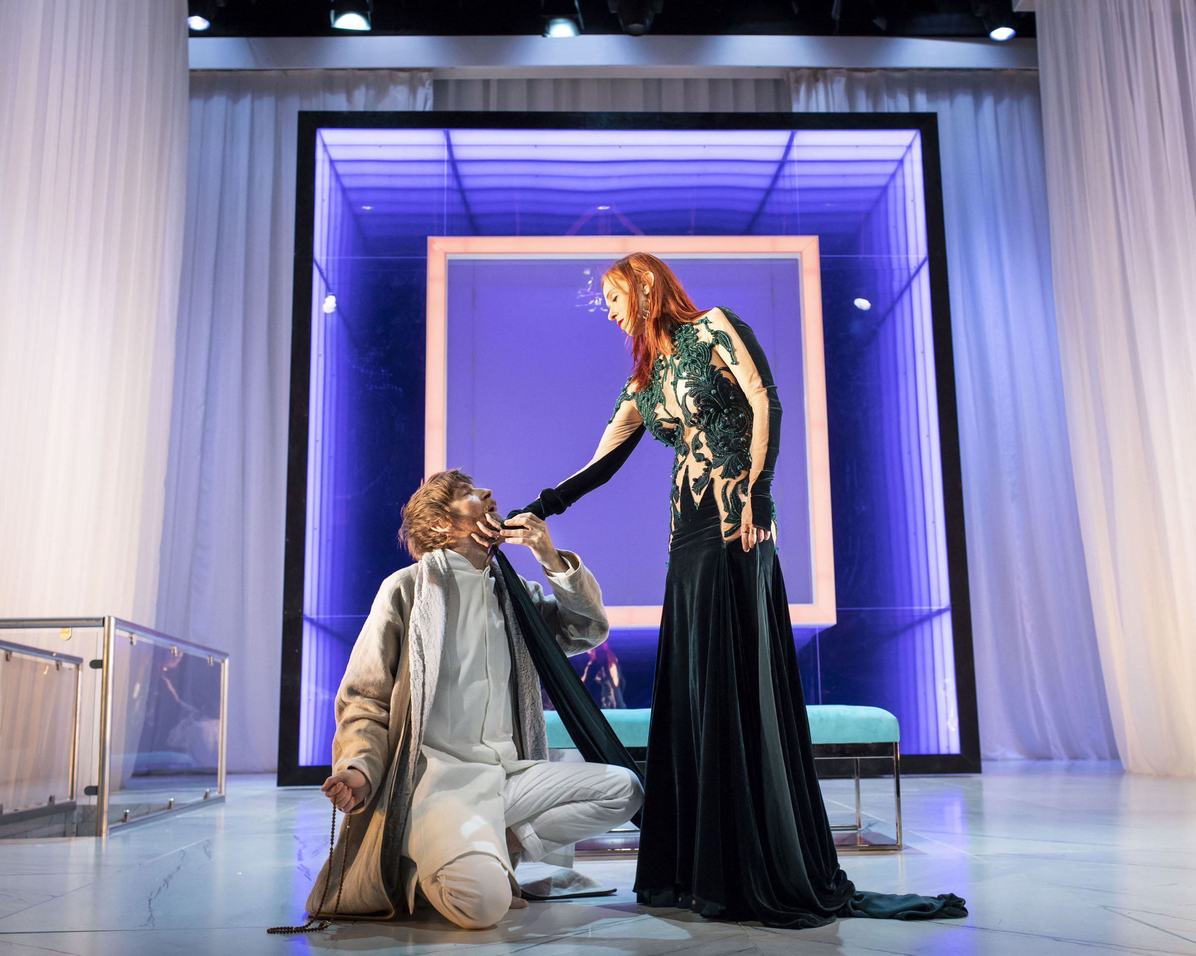 Audrey Fleurot and Paul Anderson in Tartuffe