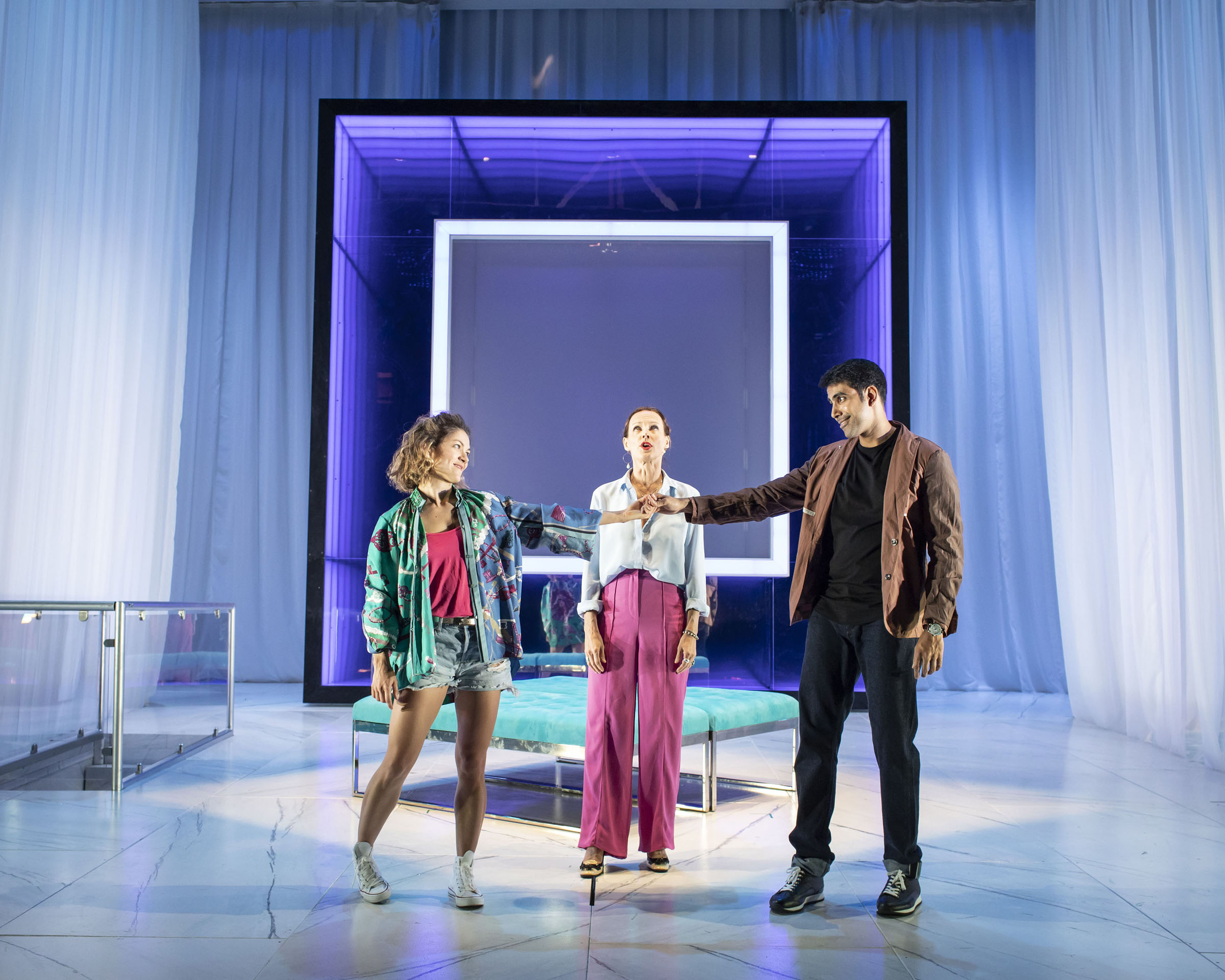 Olivia Ross, Claude Perron and Jaz Deol in Tartuffe