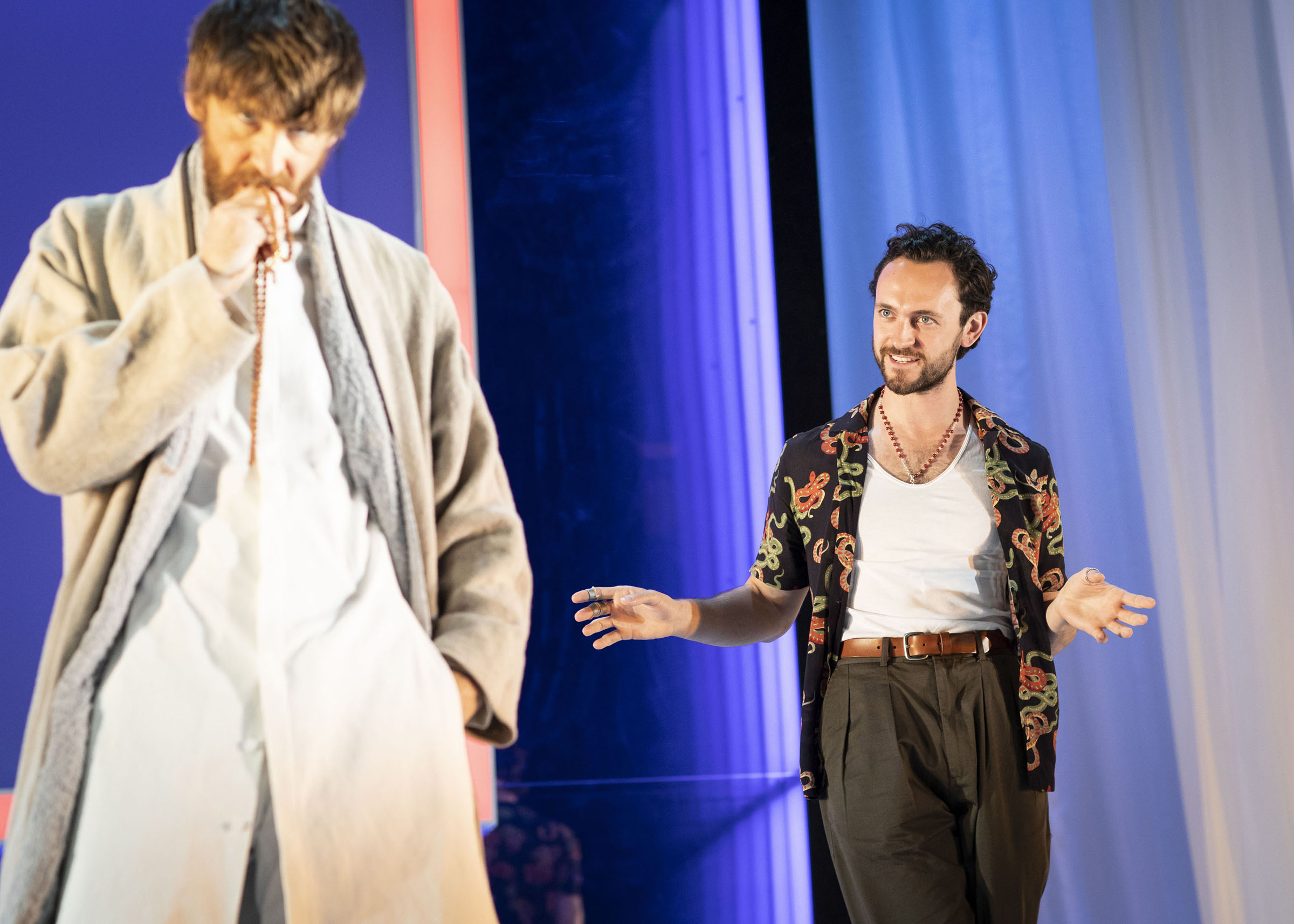 Paul Anderson and George Blagden in Tartuffe