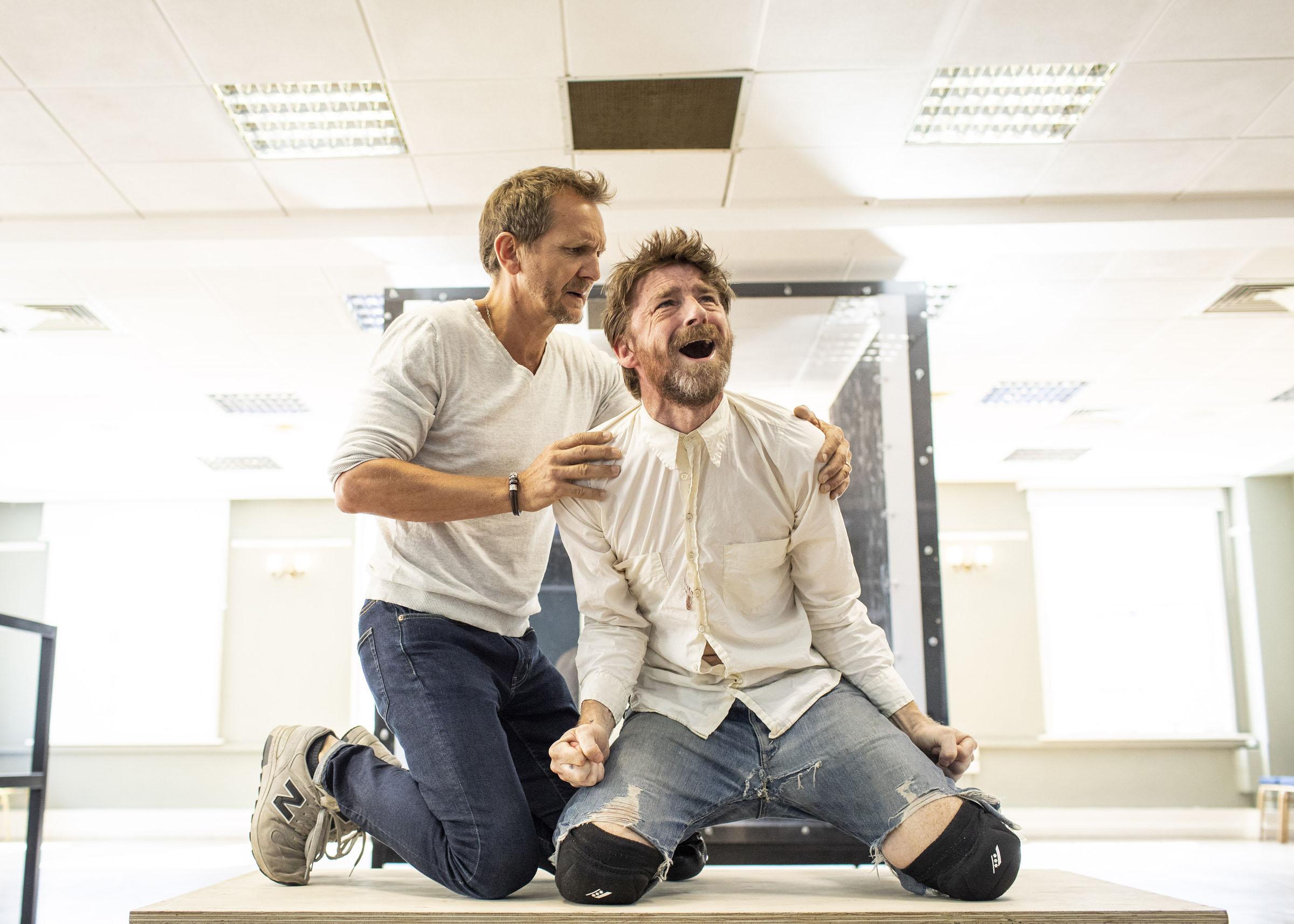 Sebastian Roché and Paul Anderson rehearsing Tartuffe