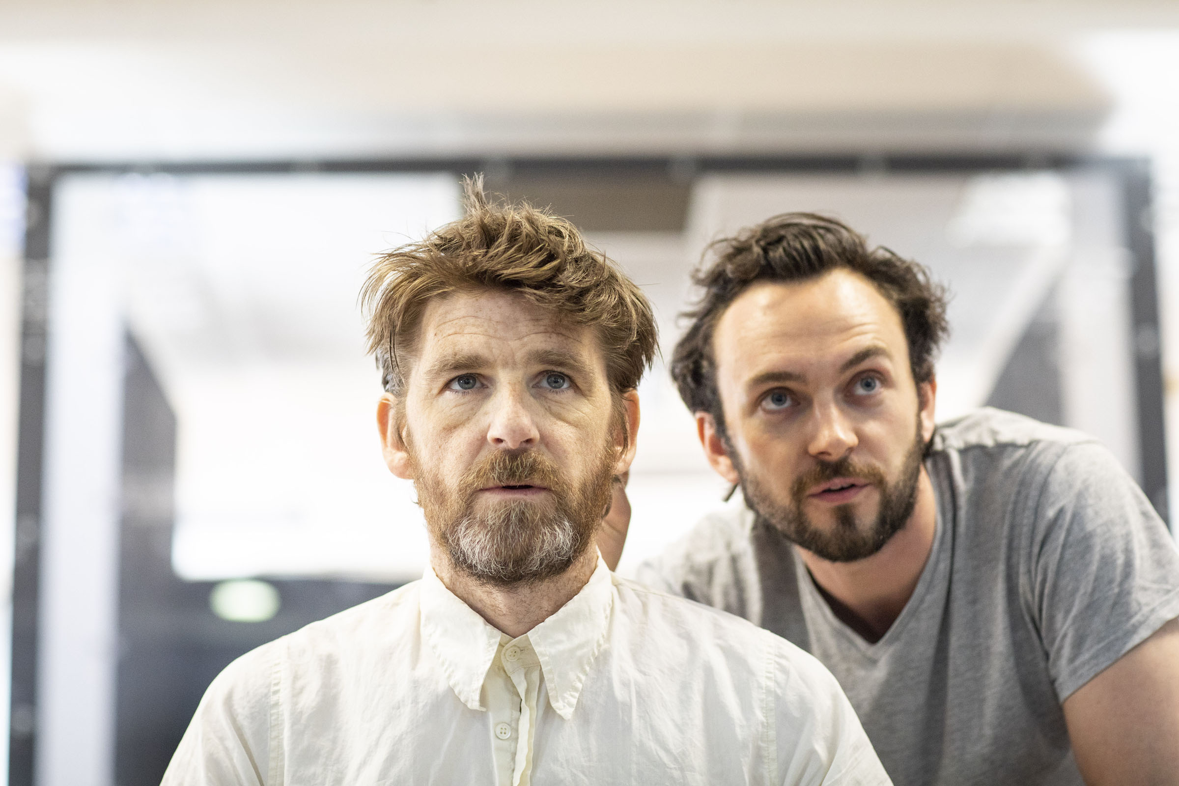 Paul Anderson and George Blagden in rehearsals for Tartuffe