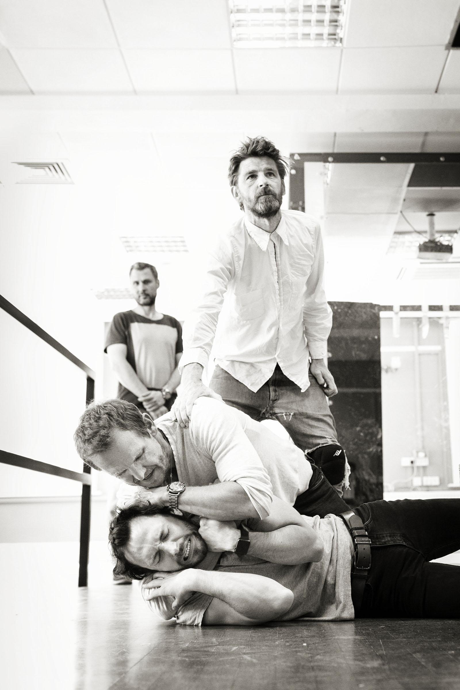 George Blagden, Sebastian Roché, Paikan Garutti and Paul Anderson