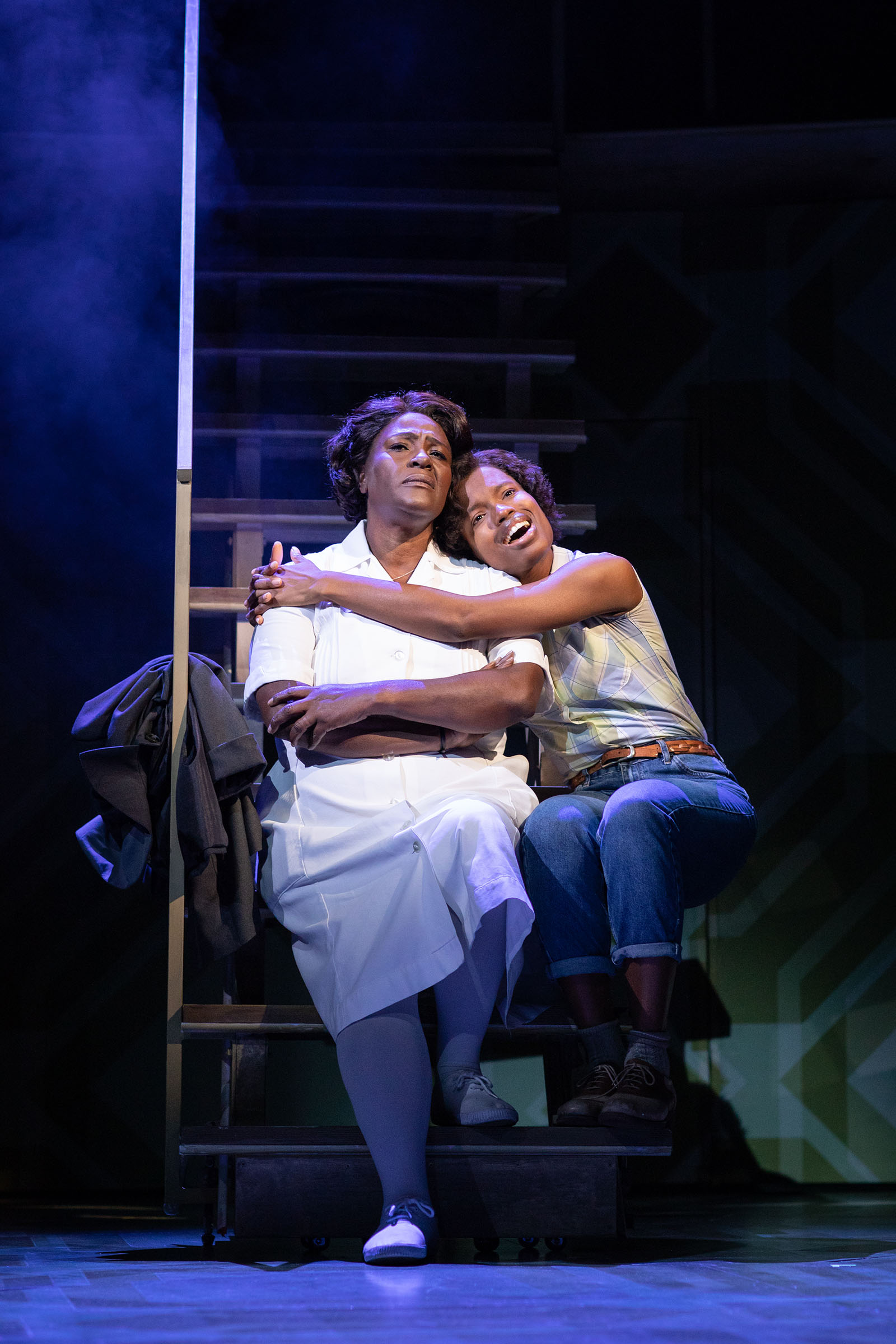 Sharon D. Clarke as Caroline and Abiona Omonua as Emmie