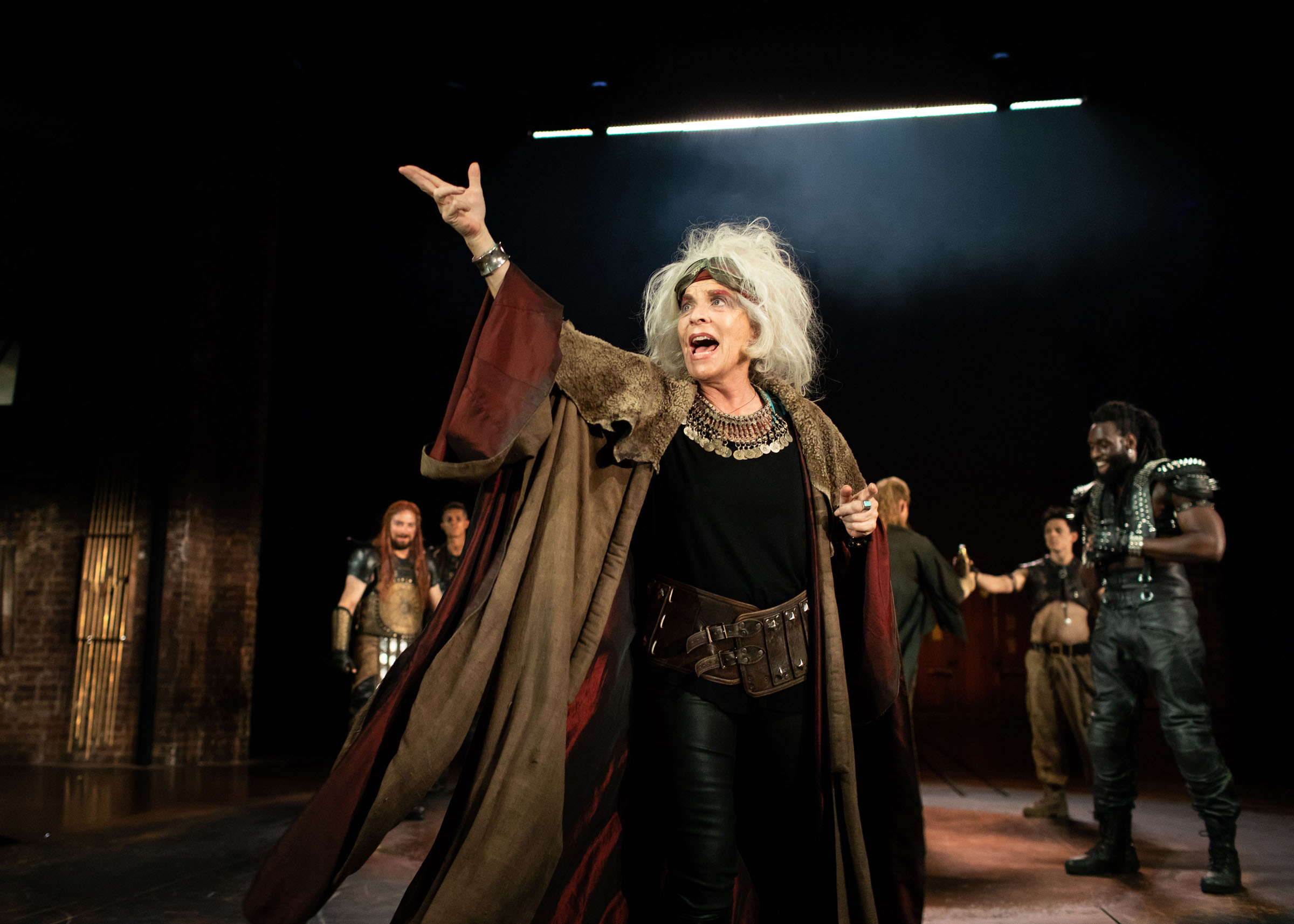 Suzanne Bertish as Agamemnon at the RSC