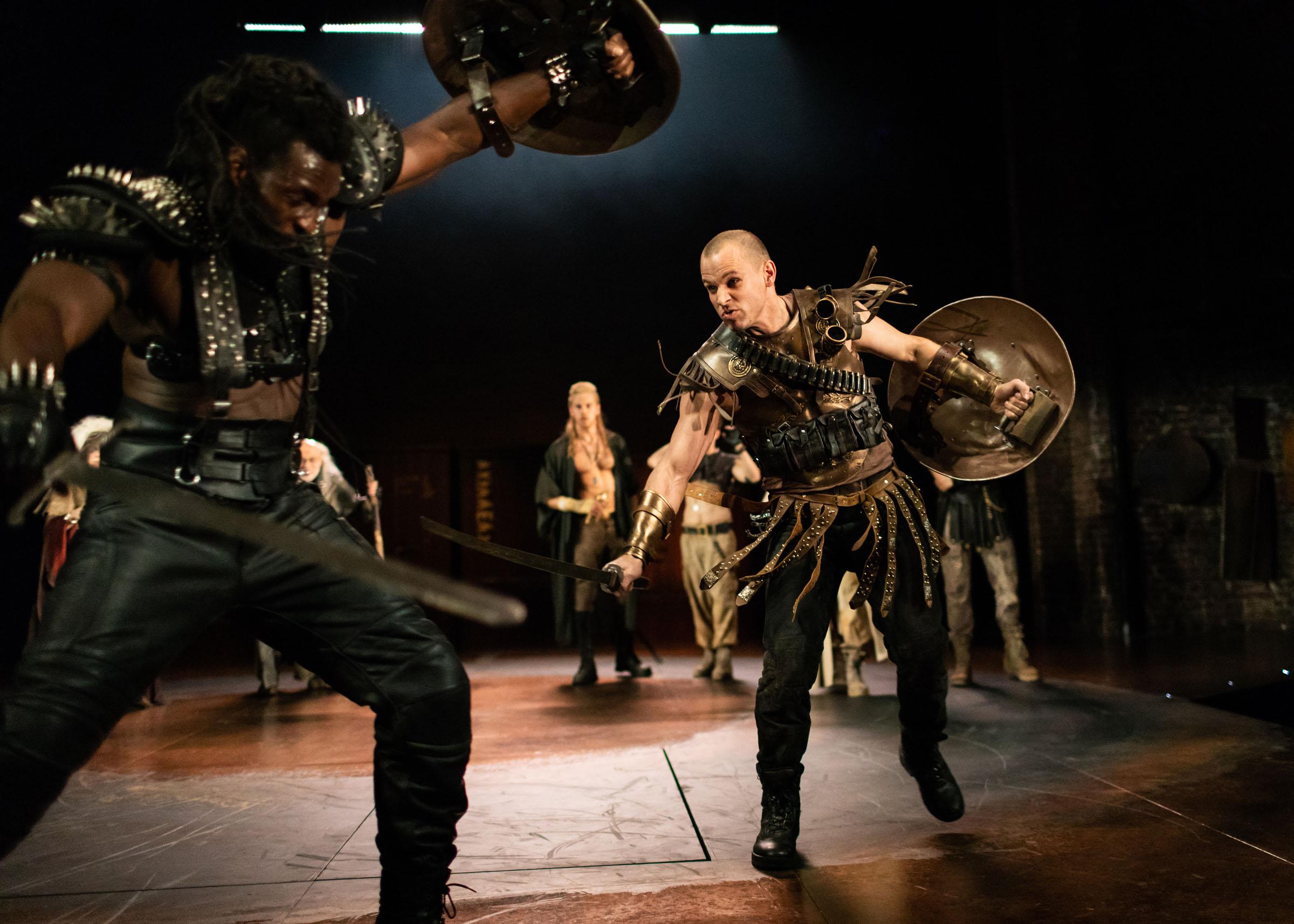Theo Ogundipe (Ajax) fights Daniel Hawksford (Hector)