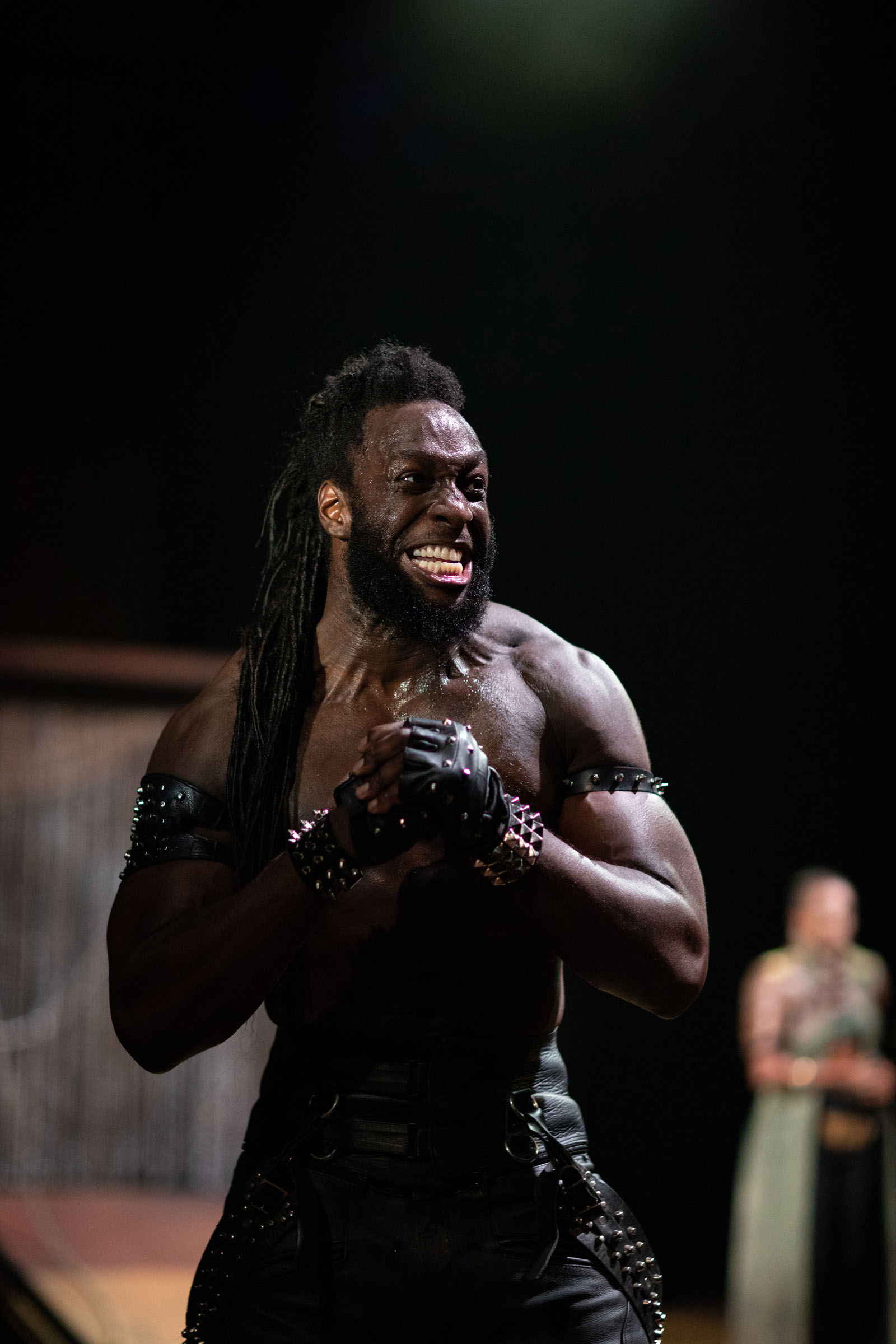 Theo Ogundipe as Ajax in Troilus and Cressida