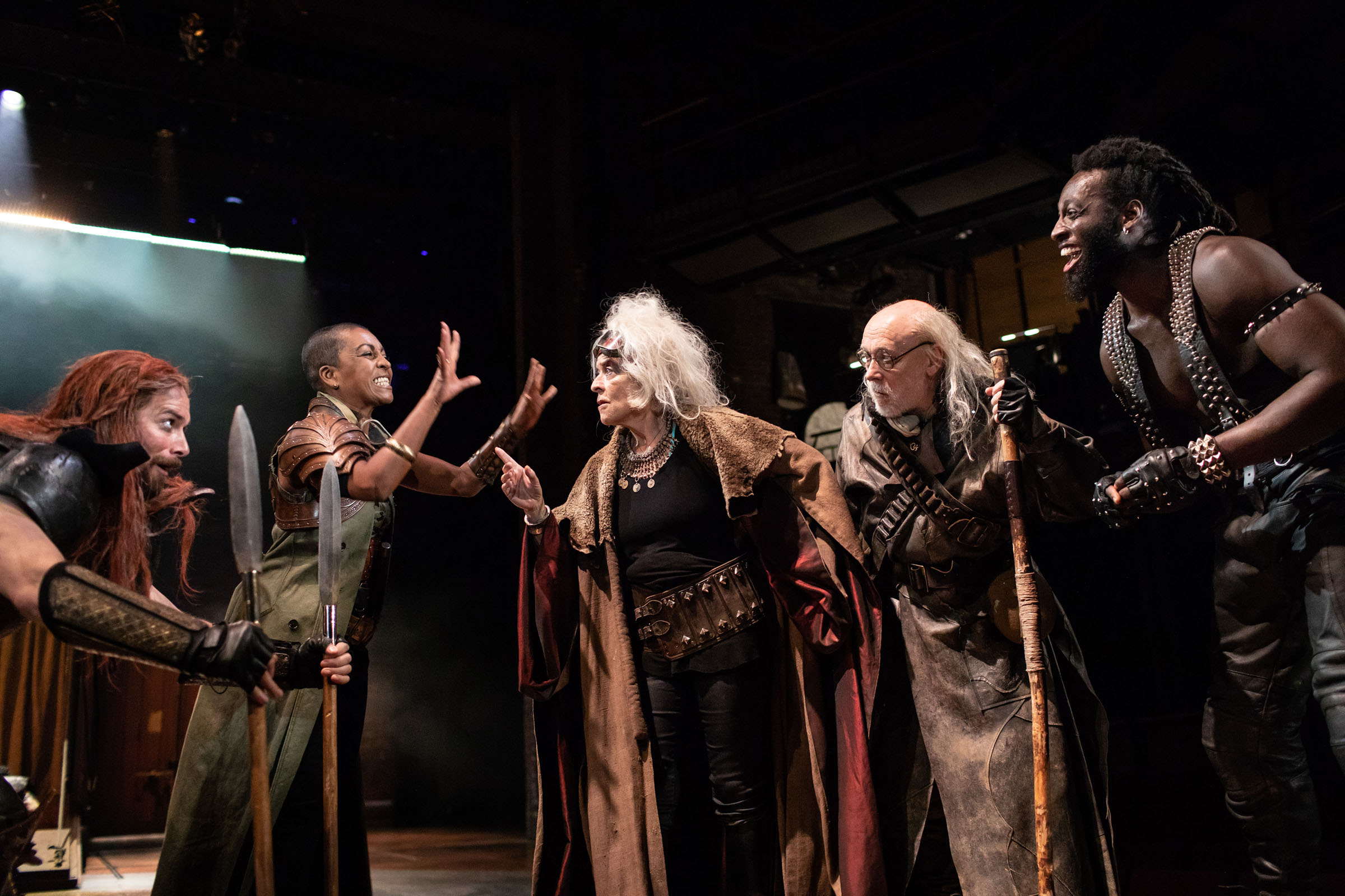 Andrew Langtree as Menelaus, Adjoa Andoh as Ulysses, Suzanne Bertish as Agamemnon, Jim Hooper as Nestor and Theo Ogundipe as Ajax