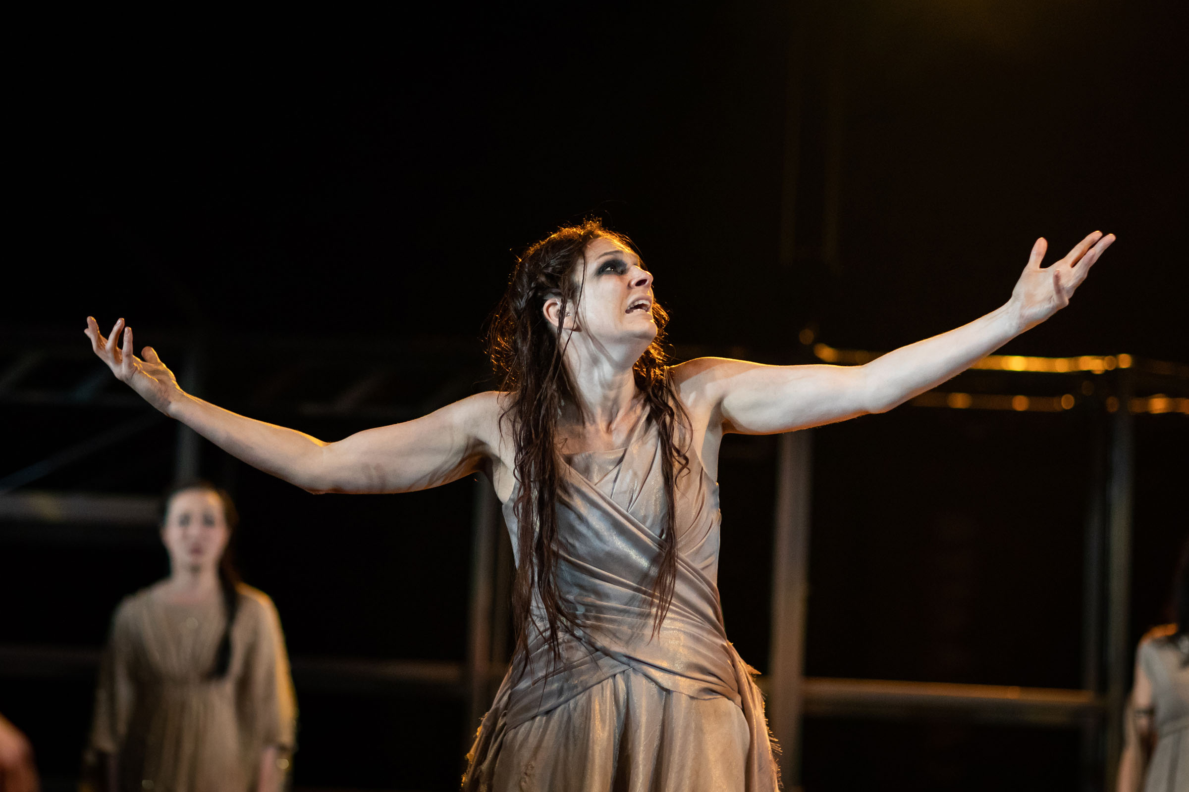 Charlotte Arrowsmith as Cassandra in 'Troilus and Cressida' at the RSC