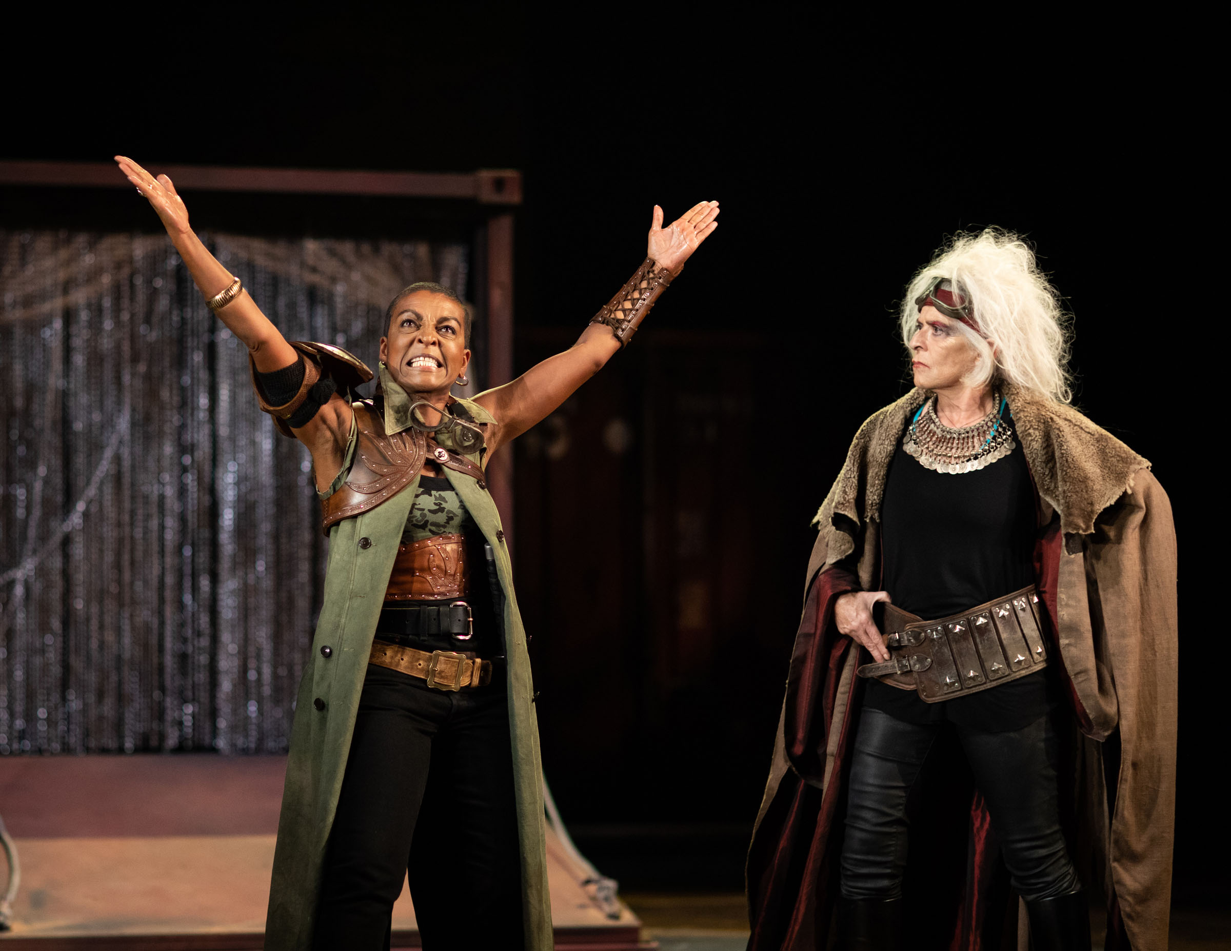 Adjoa Andoh as Ulysses and Suzanne Bertish as Agamemnon at the RSC