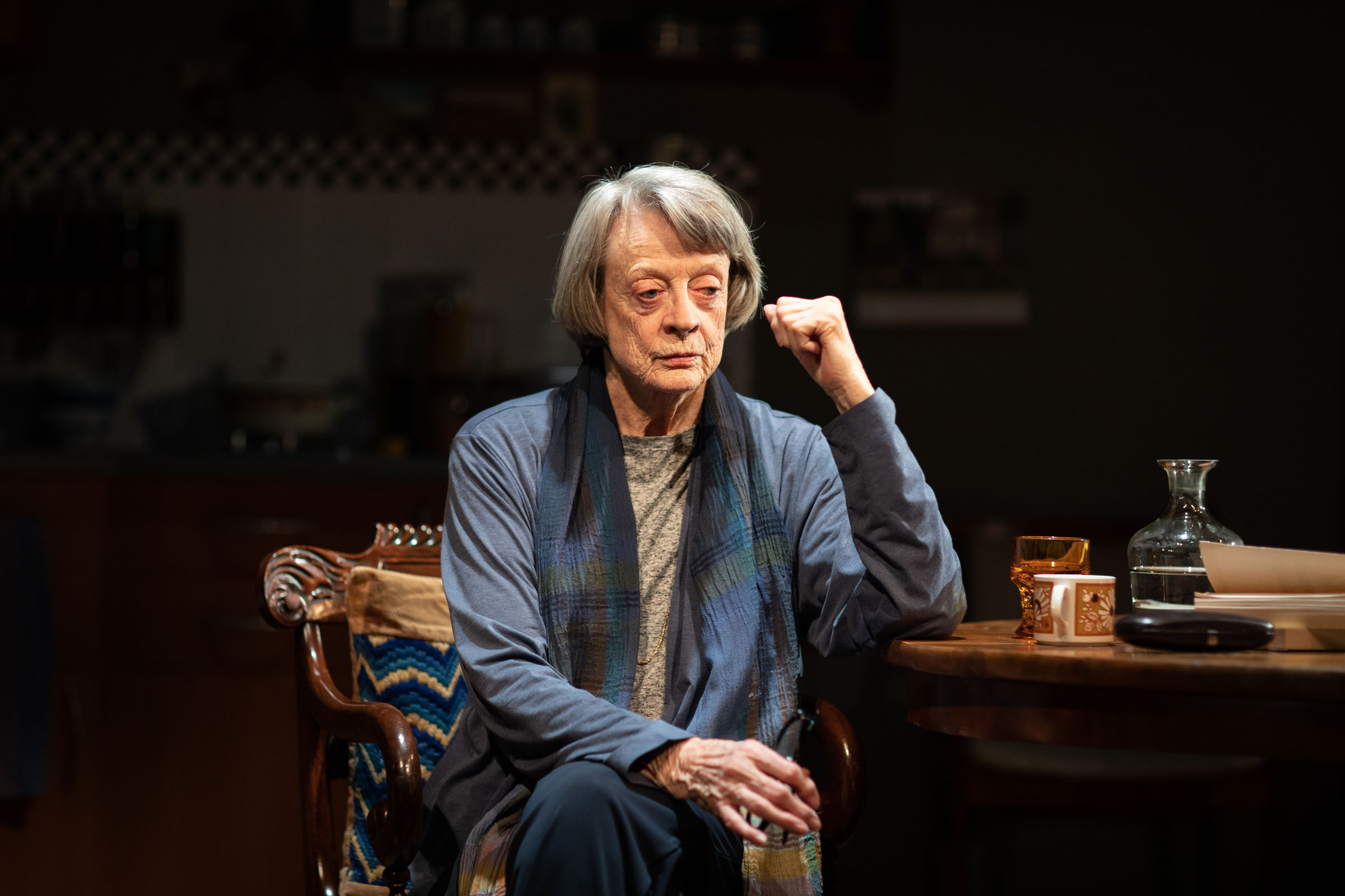 Dame Maggie Smith in the theatre production of 'A German Life'