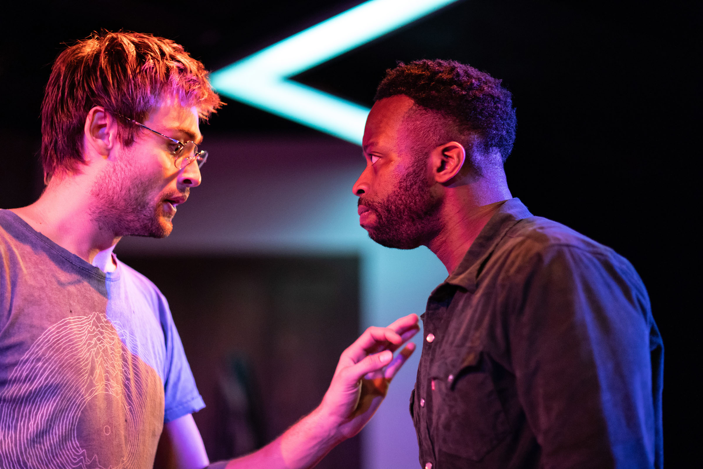 Douglas Booth (Jeremy) and Clifford Samuel (Teddy) in 'A Guide for the Homesick'