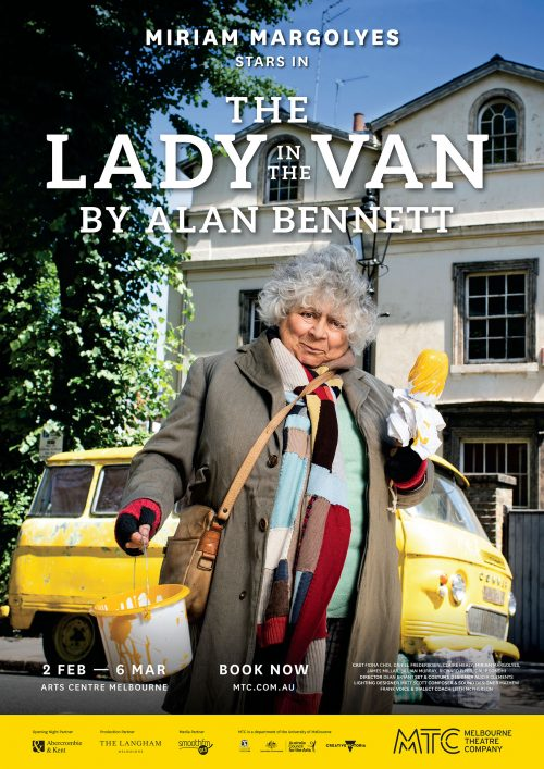 Poster for 'The Lady in the Van' featuring Miriam Margolyes