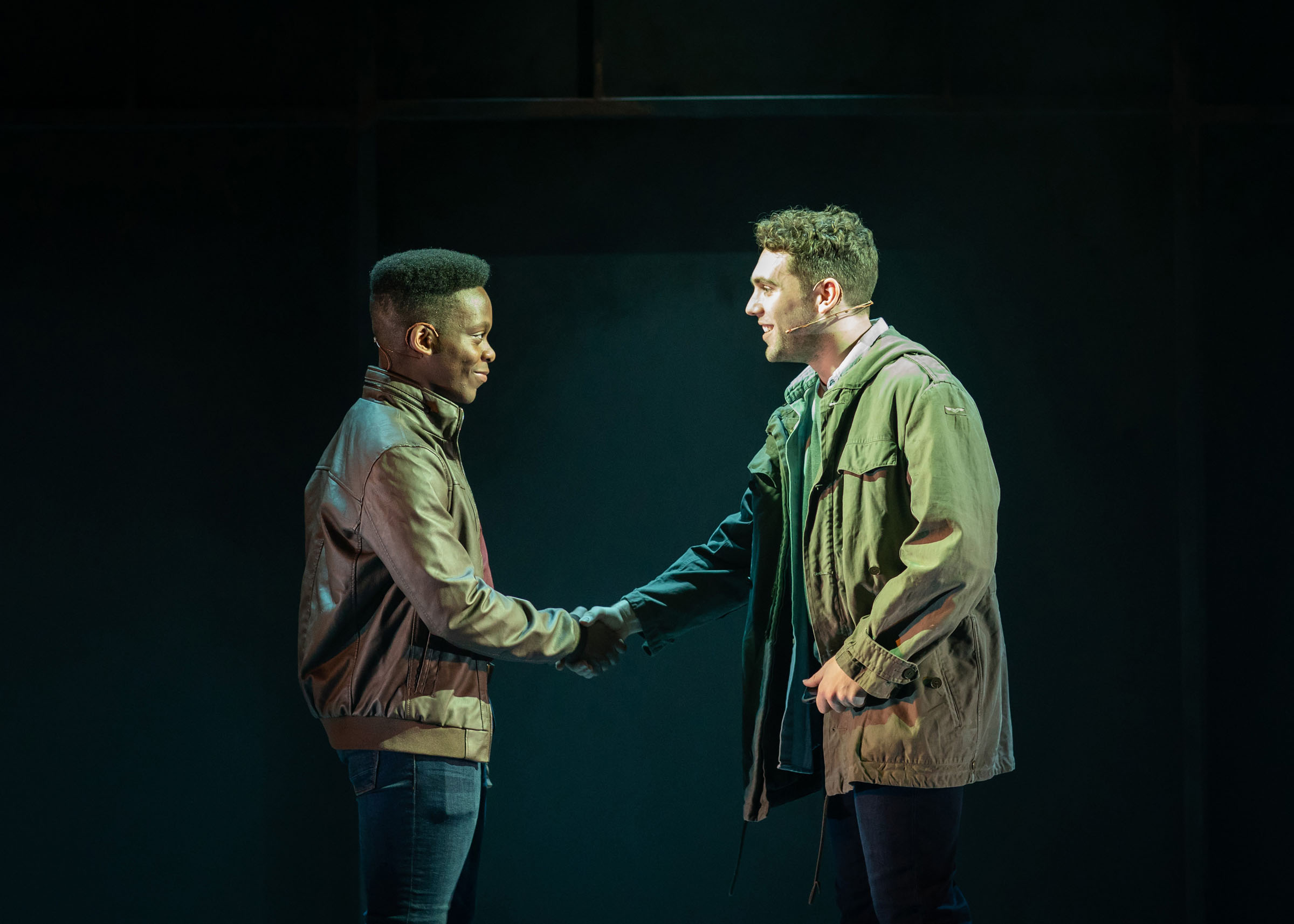 Tyrone Huntley (Obi) and Billy Cullum (Alex) in Leave To Remain at the Lyric Hammersmith