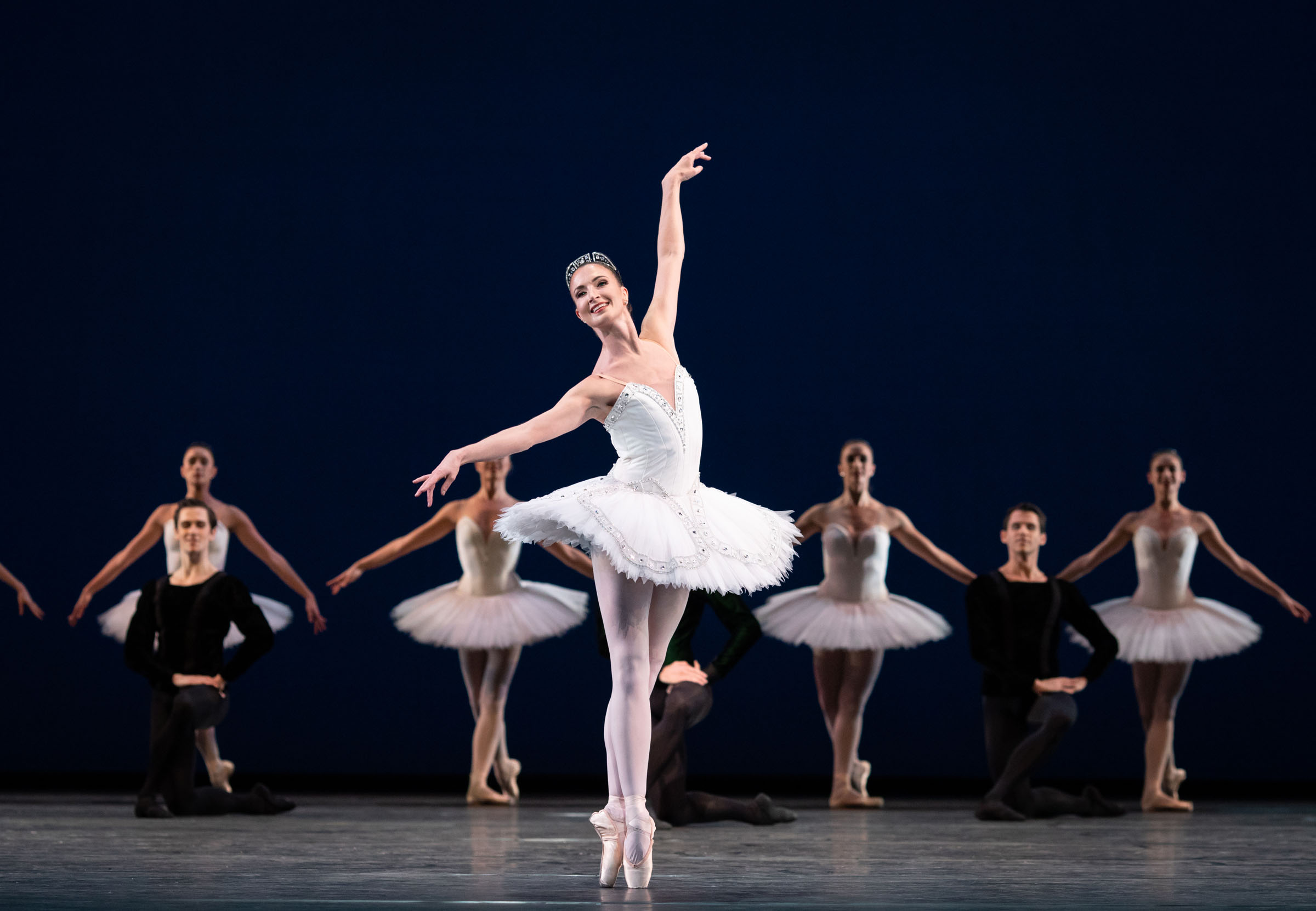 Lauren Cuthbertson and artists of The Royal Ballet in Symphony in C