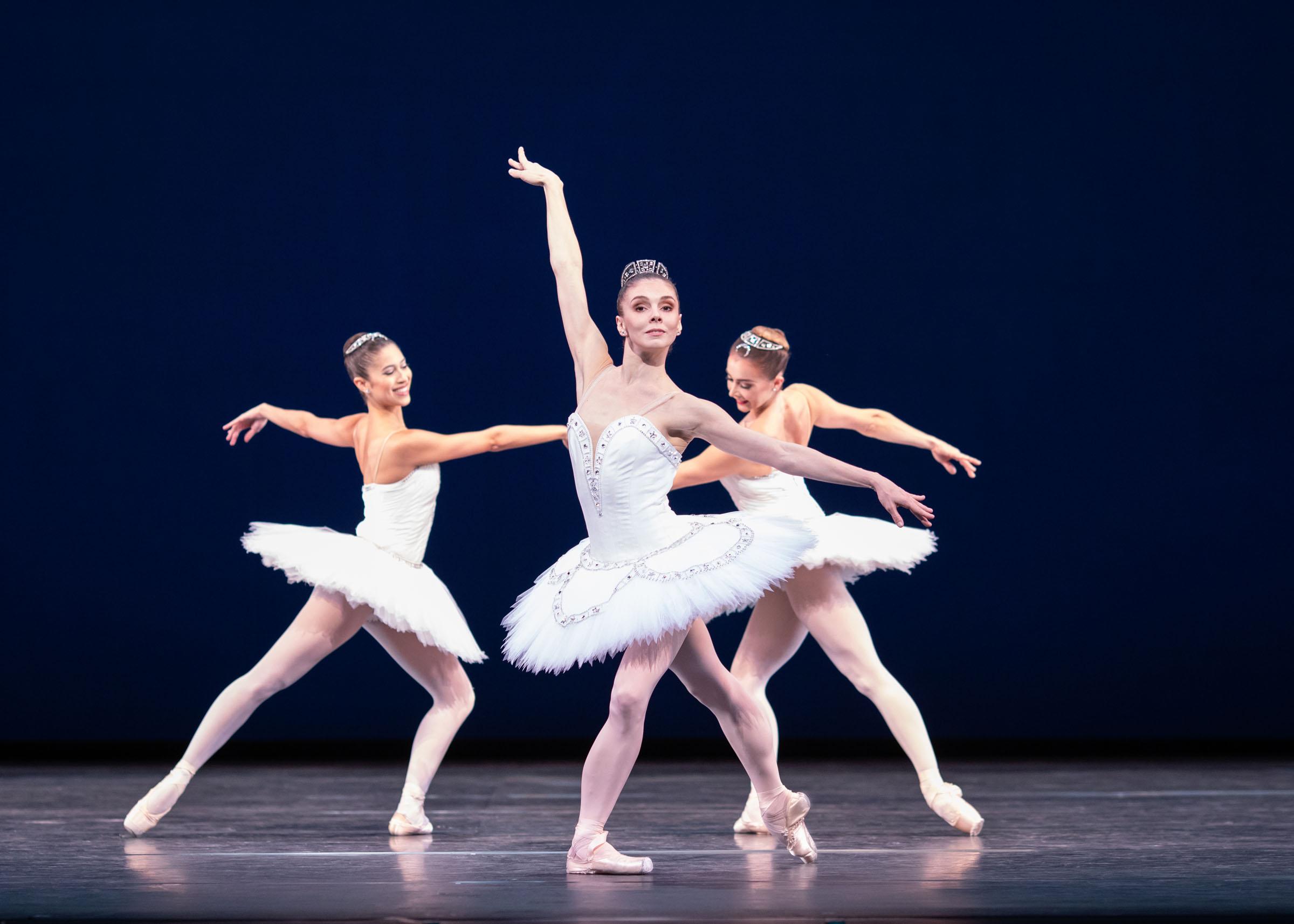 Beatriz Stix-Brunell, Natalia Osipova and Claire Calvert in George Balanchine's Symphony in C