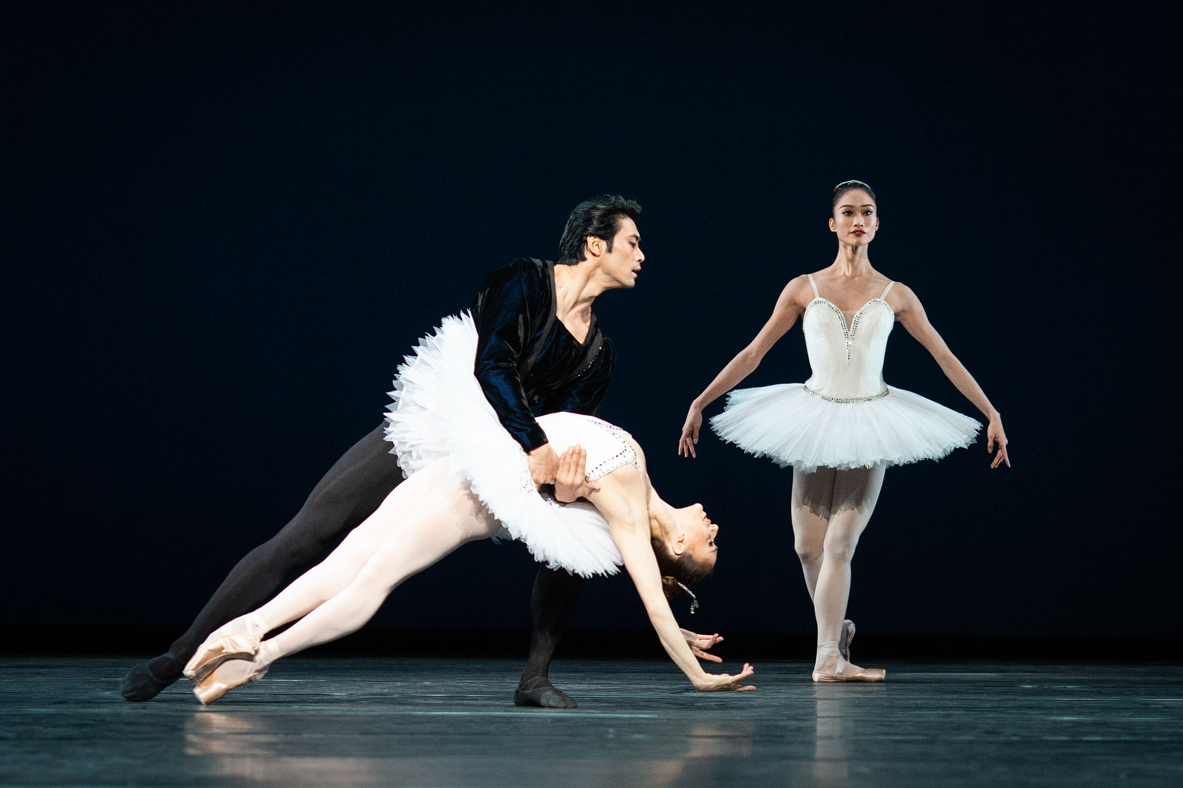 Ryoichi Hirano, Marianela Nuñez and Fumi Kaneko in George Balanchine's Symphony in C