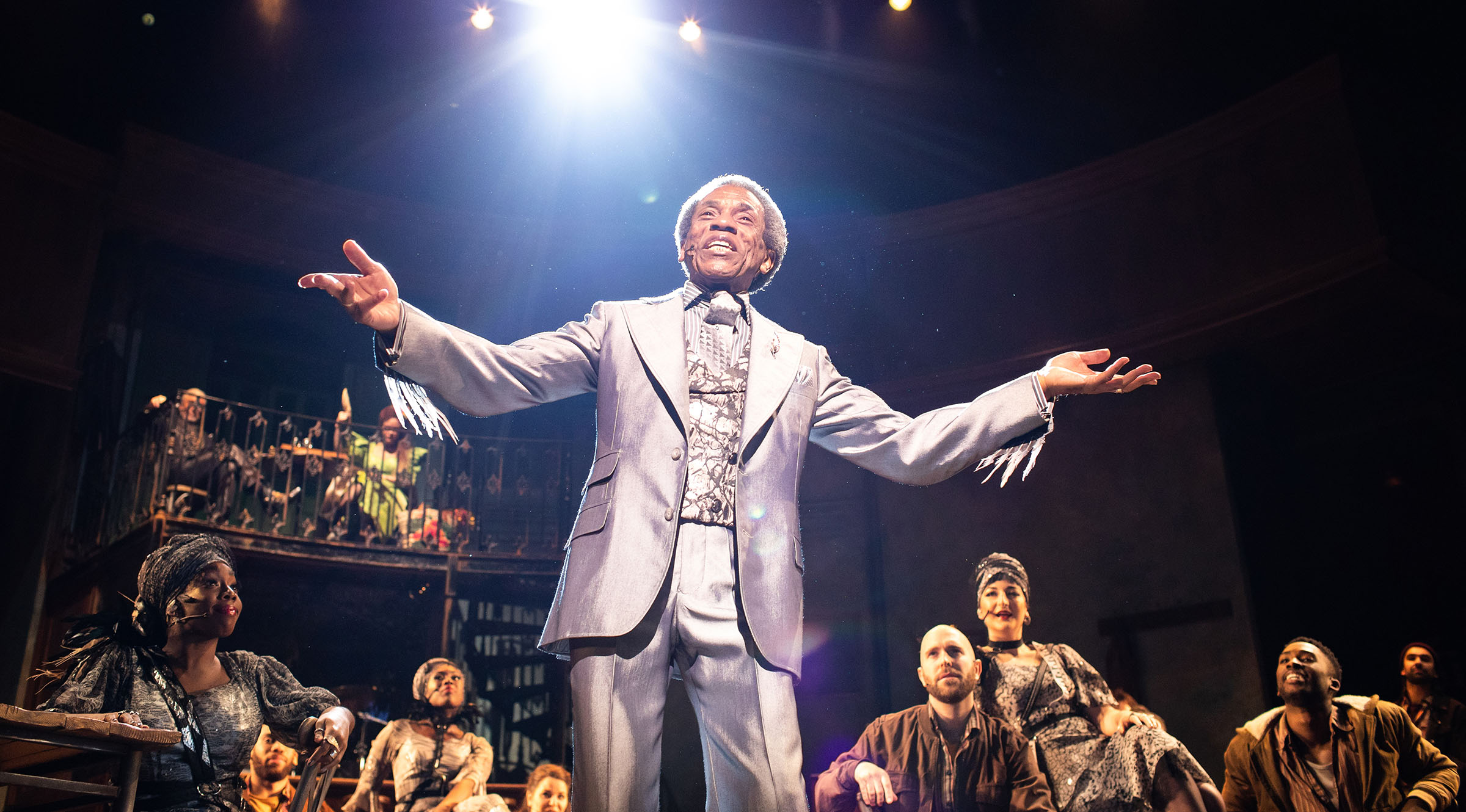 André De Shields as Hermes in Hadestown