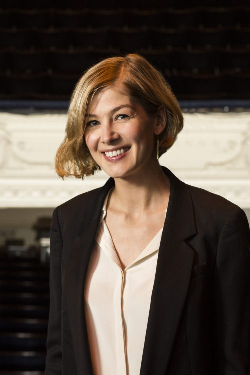 Rosamund Pike at an event for the National Youth Theatre