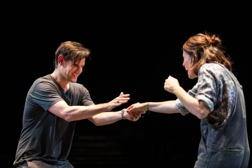 Matt Smith and Claire Foy in 'Lungs' at The Old Vic.