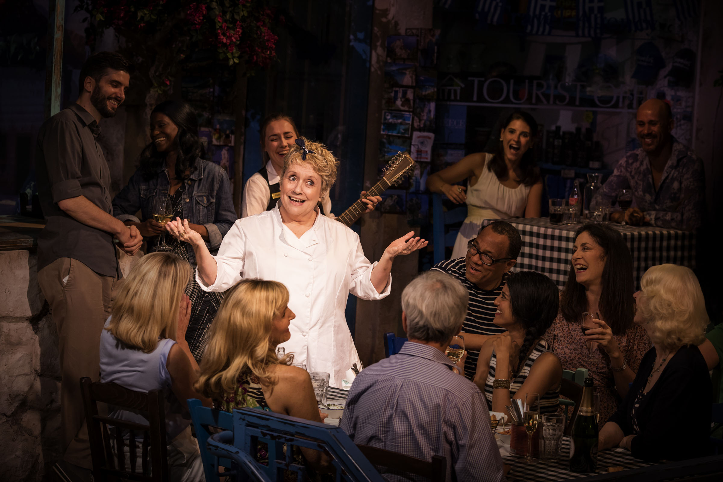 Joanna Monro (Debbie) in 'Mamma Mia! The Party'