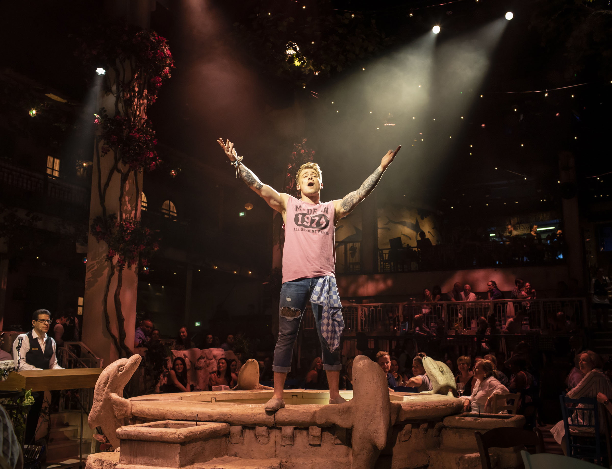 Aj Bentley (Adam) in 'Mamma Mia! The Party'