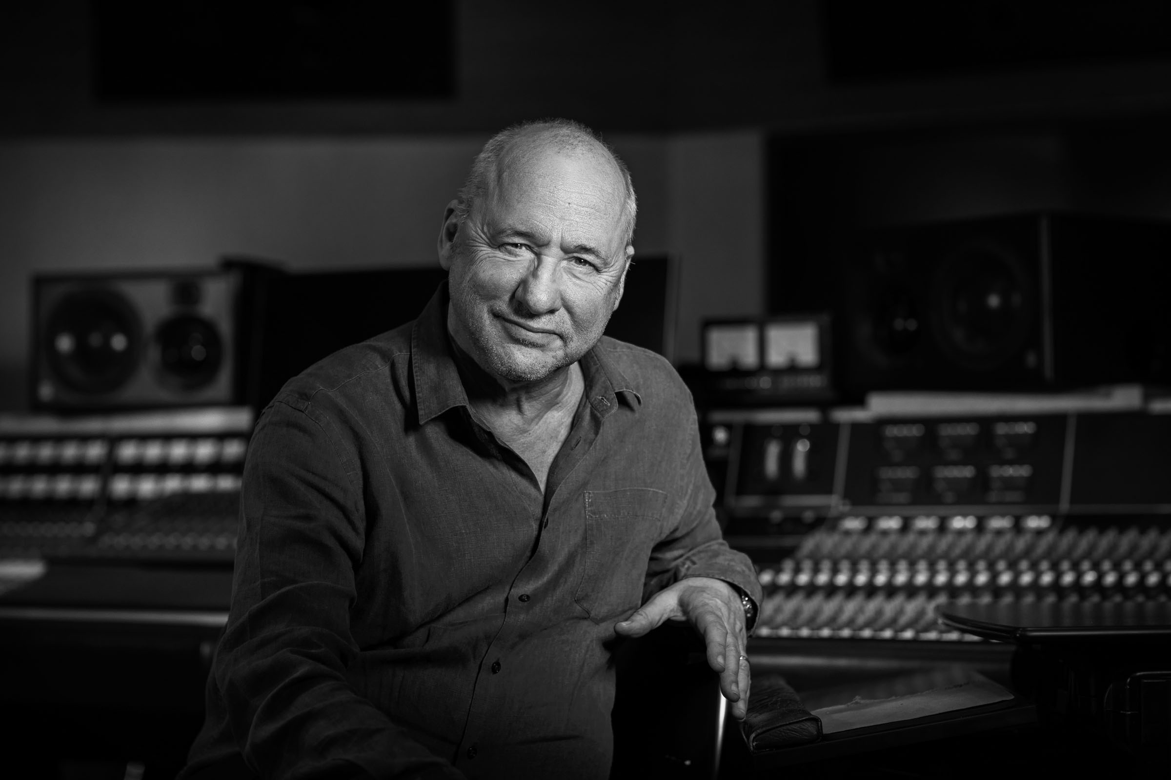 Musician Mark Knopfler at his London studio