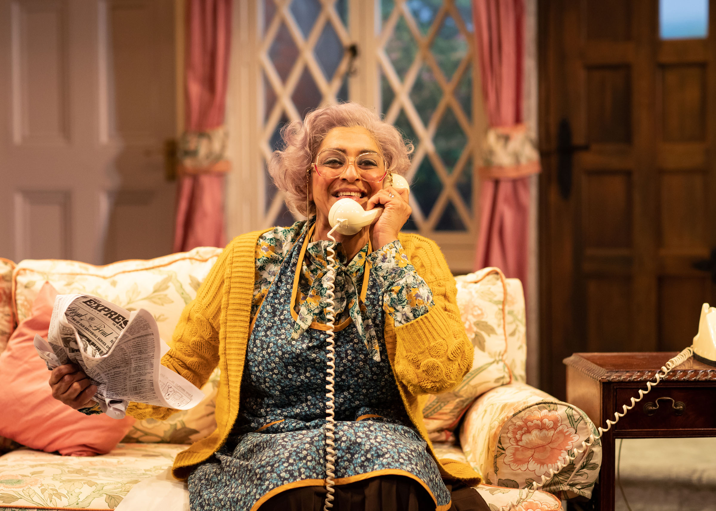 Meera Syal (Dotty Otley) in Noises Off
