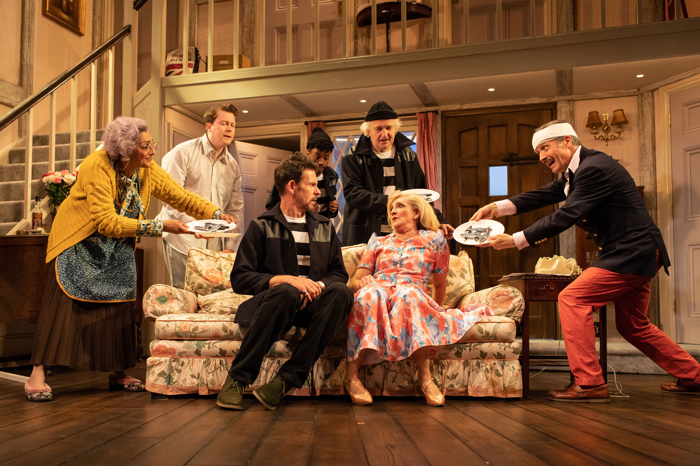 The cast of 'Noises Off' at the Lyric Hammersmith