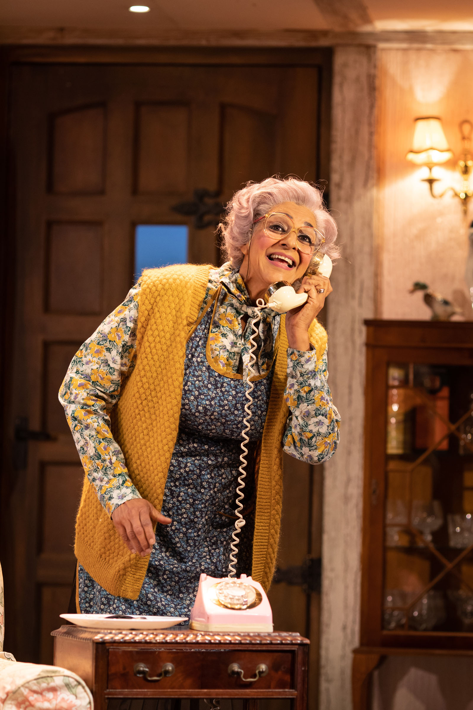 Meera Syal (Dotty Otley) in 'Noises Off'