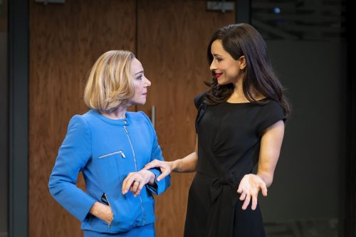 Zoë Wanamaker (Helen) and Zrinka Cvitešić (Sophia) in 'Two Ladies'