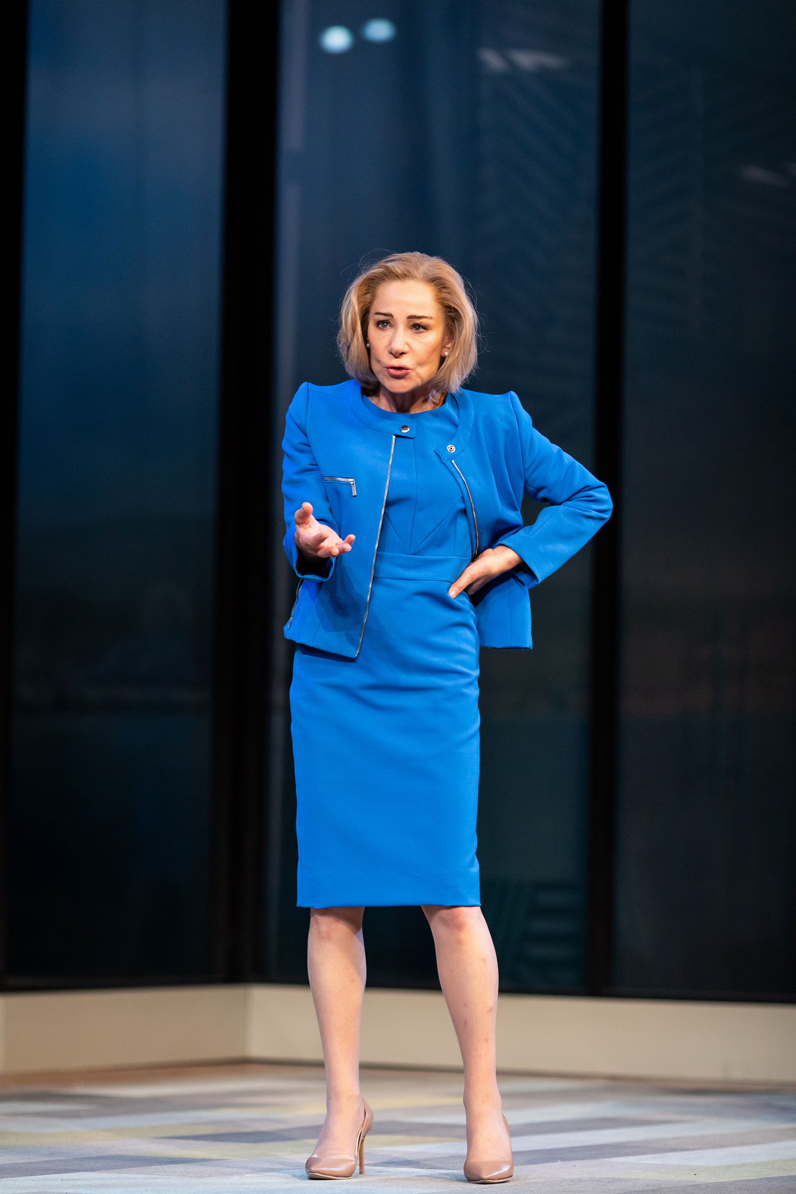 Zoë Wanamaker as Helen in 'Two Ladies' at the Bridge Theatre