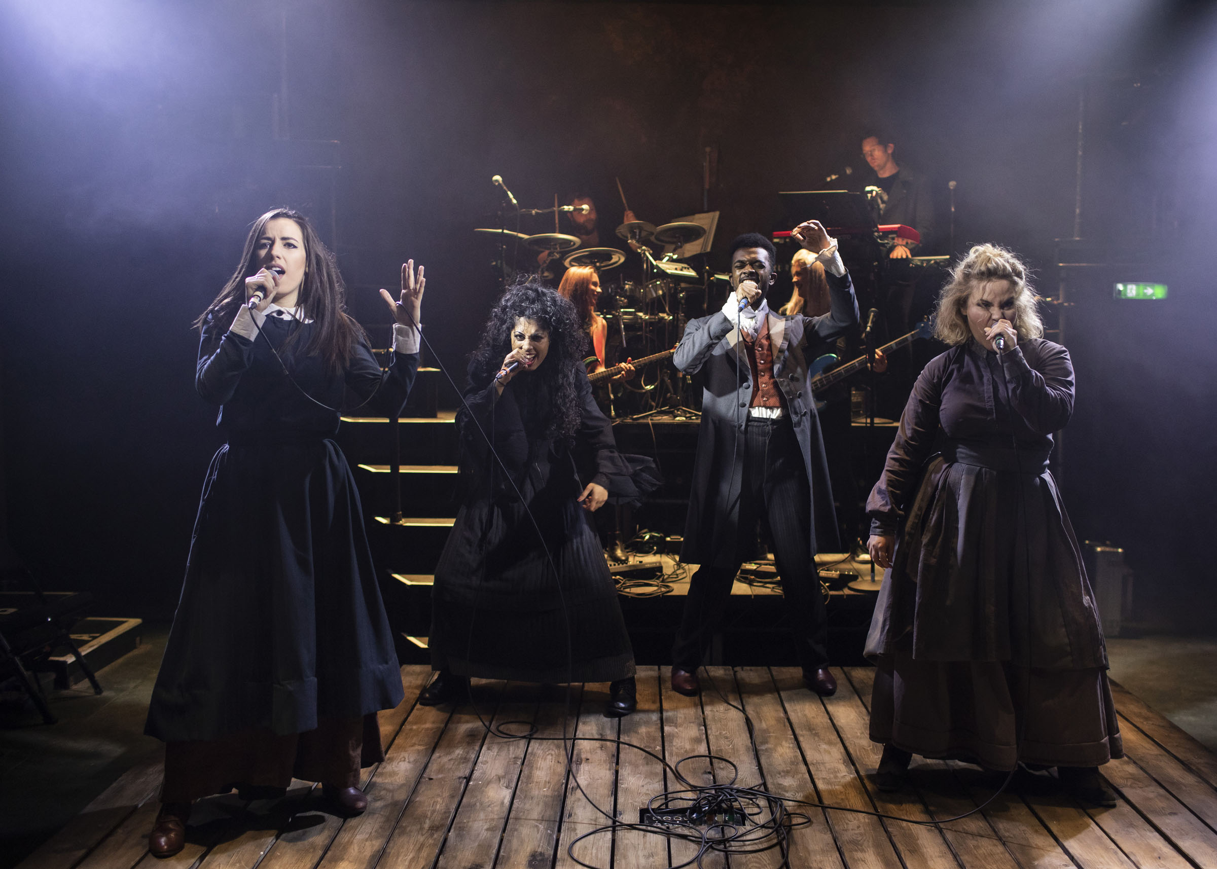 Molly Lynch (Anne Brontë); Siobhan Athwal (Emily Brontë); Matthew Jacobs Morgan (Branwell Brontë); Natasha J. Barnes (Charlotte Brontë)