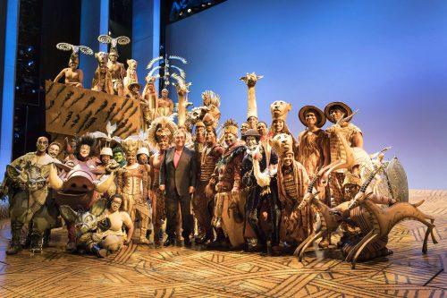Elton John visits Disney's The Lion King