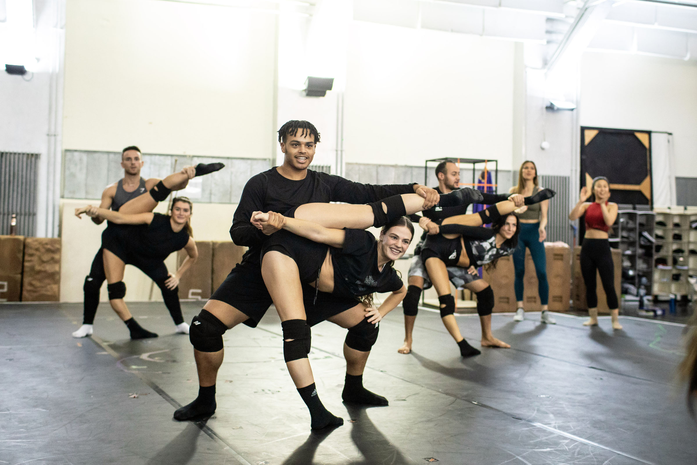 Dancers rehearsing during The Prince of Egypt