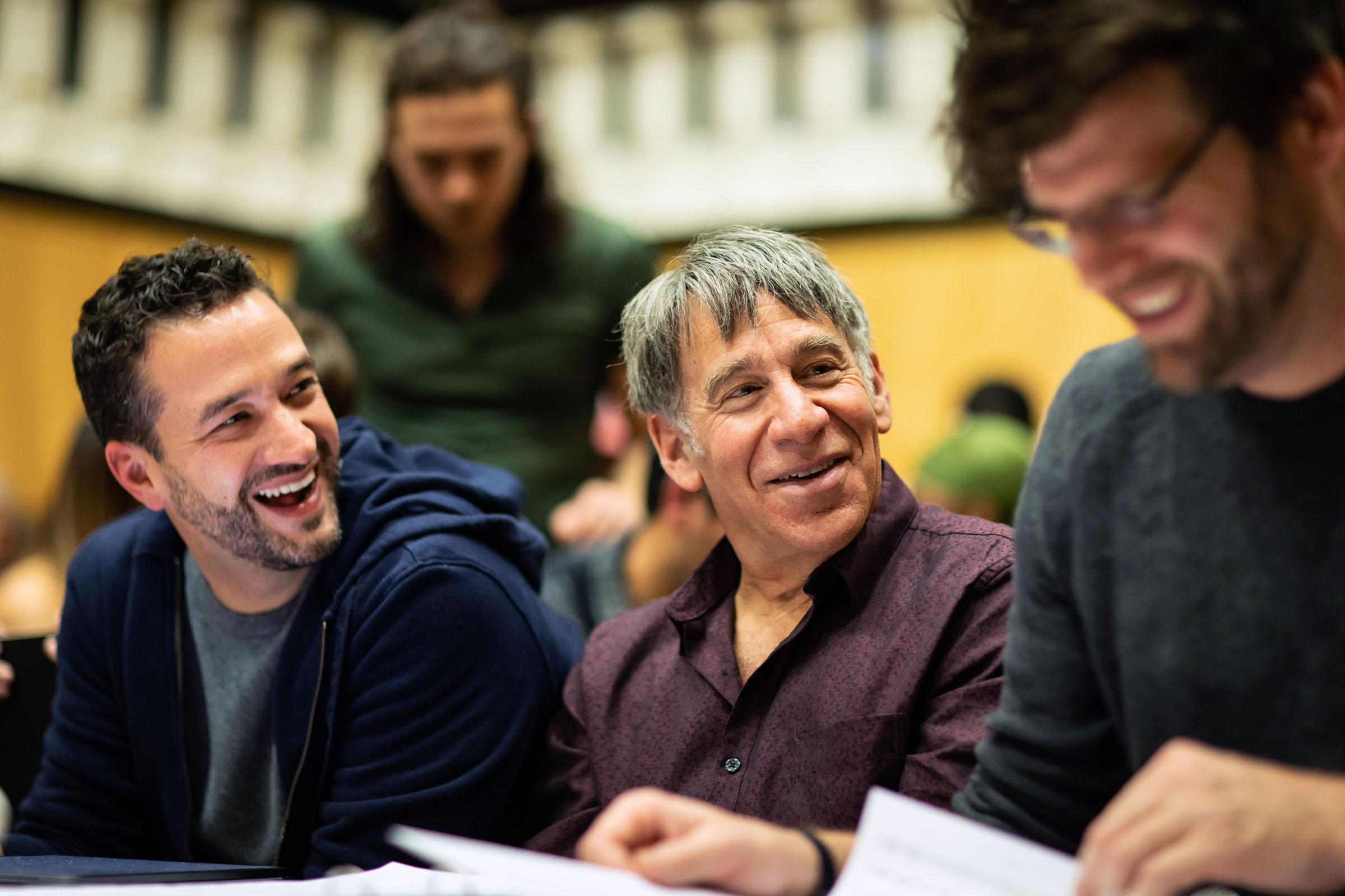Dominick Amendum (Musical Supervision and Arrangements) and Stephen Schwartz (Music and Lyrics) during the Sitzprobe for The Prince of Egyp