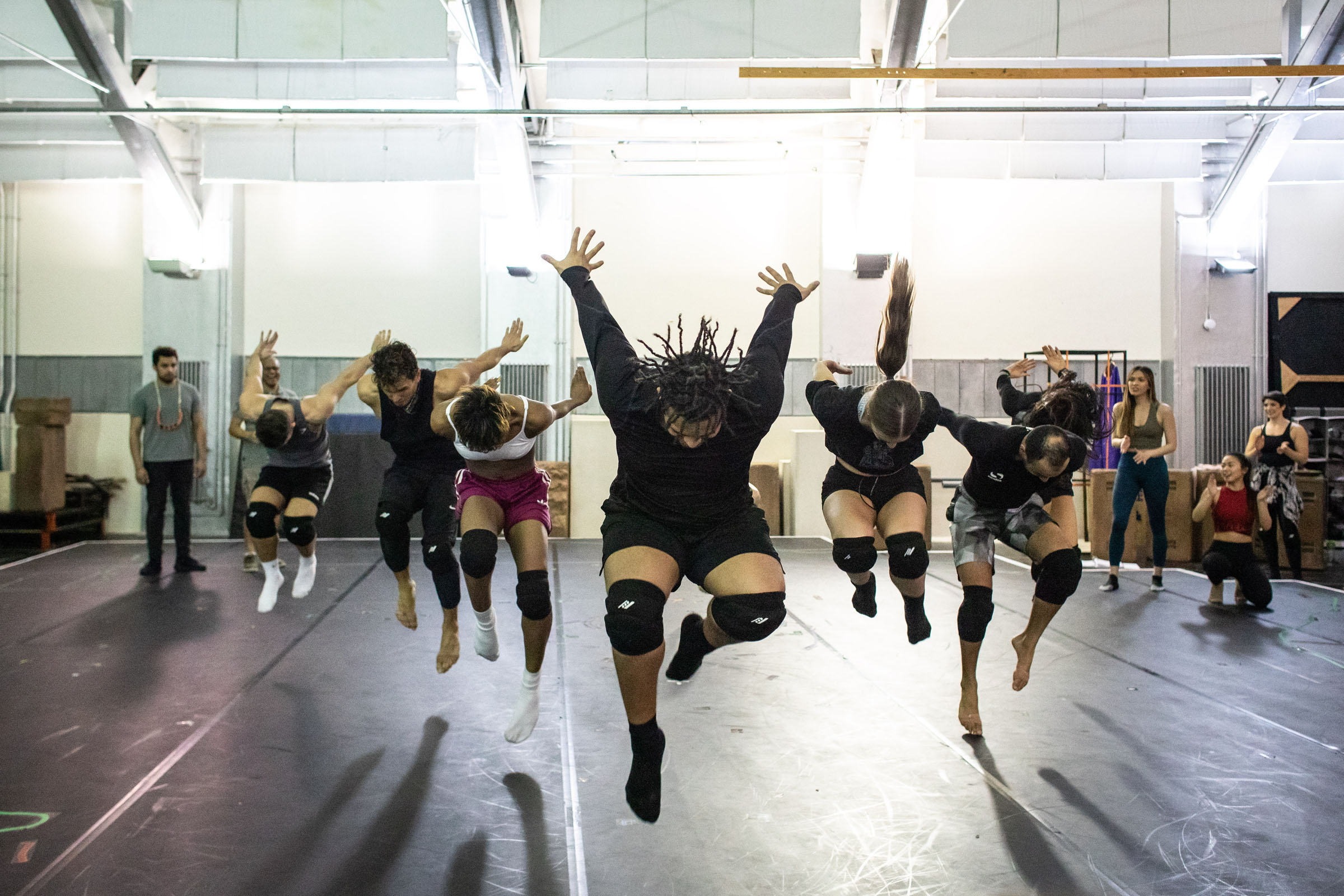Dancers rehearse for The Prince of Egypt
