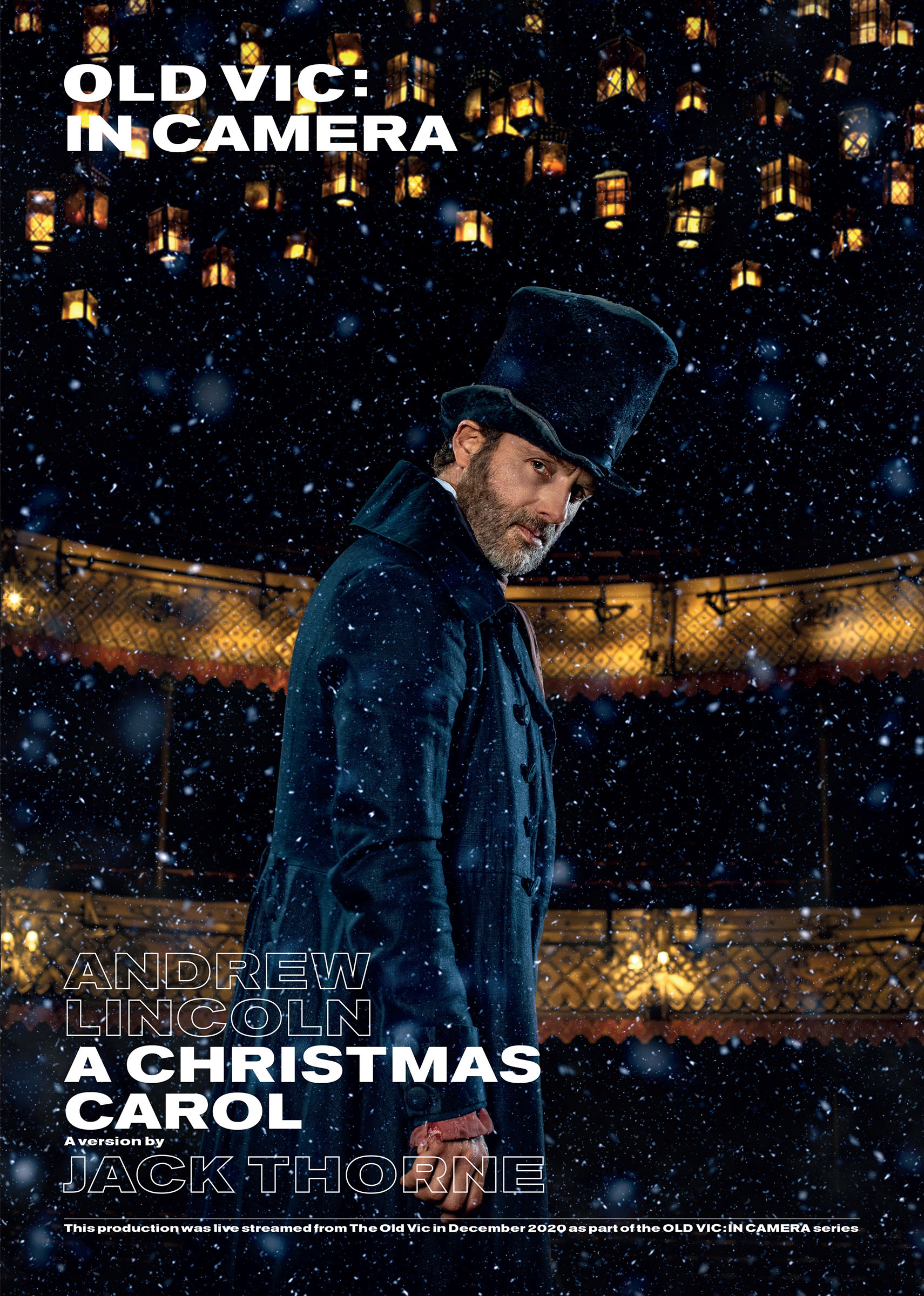 Poster for 'A Christmas Carol' at the Old Vic featuring Andrew Lincoln