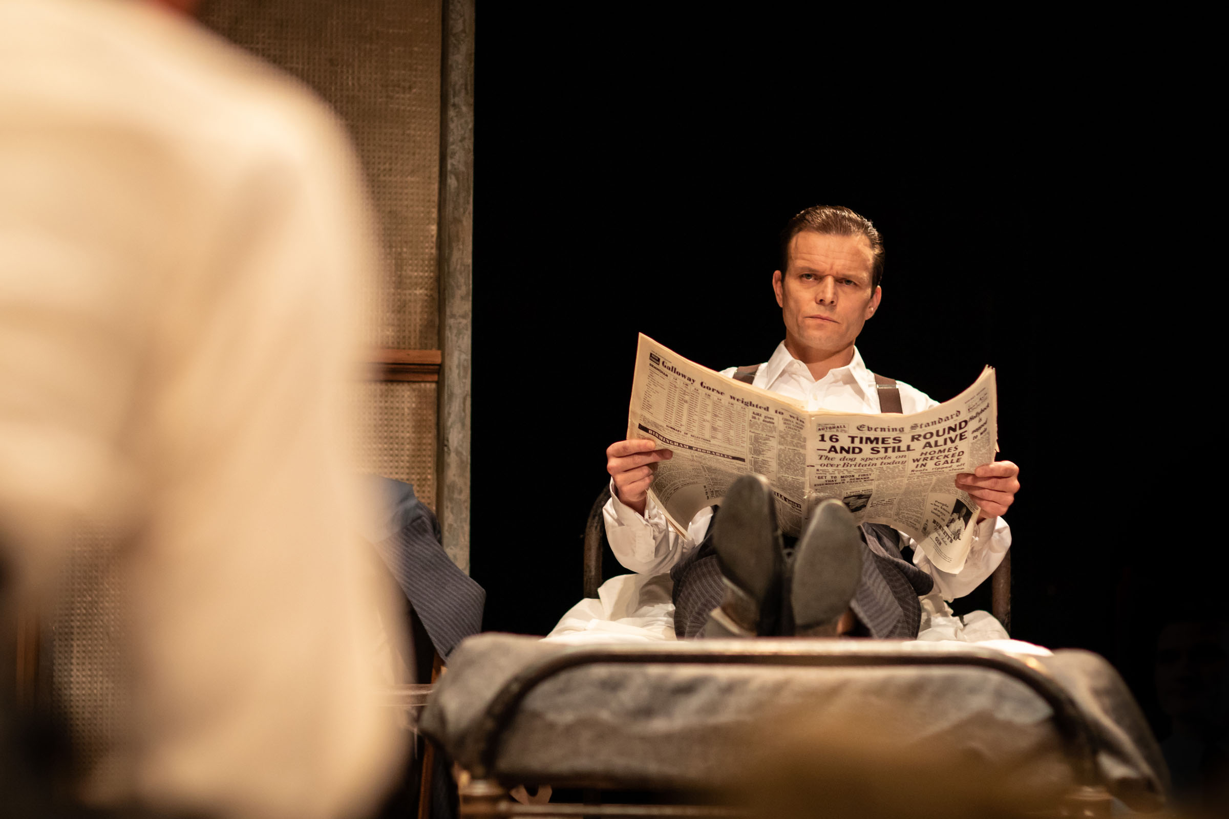 Alec Newman as Ben in The Dumb Waiter, directed by Alice Hamilton